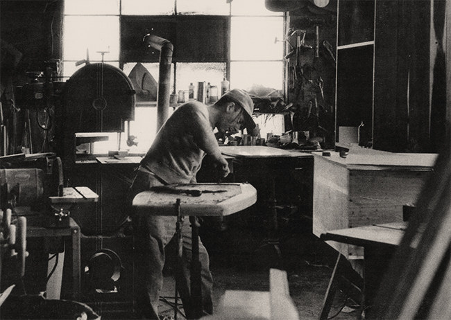Powell working in his New Hope, Pennsylvania studio