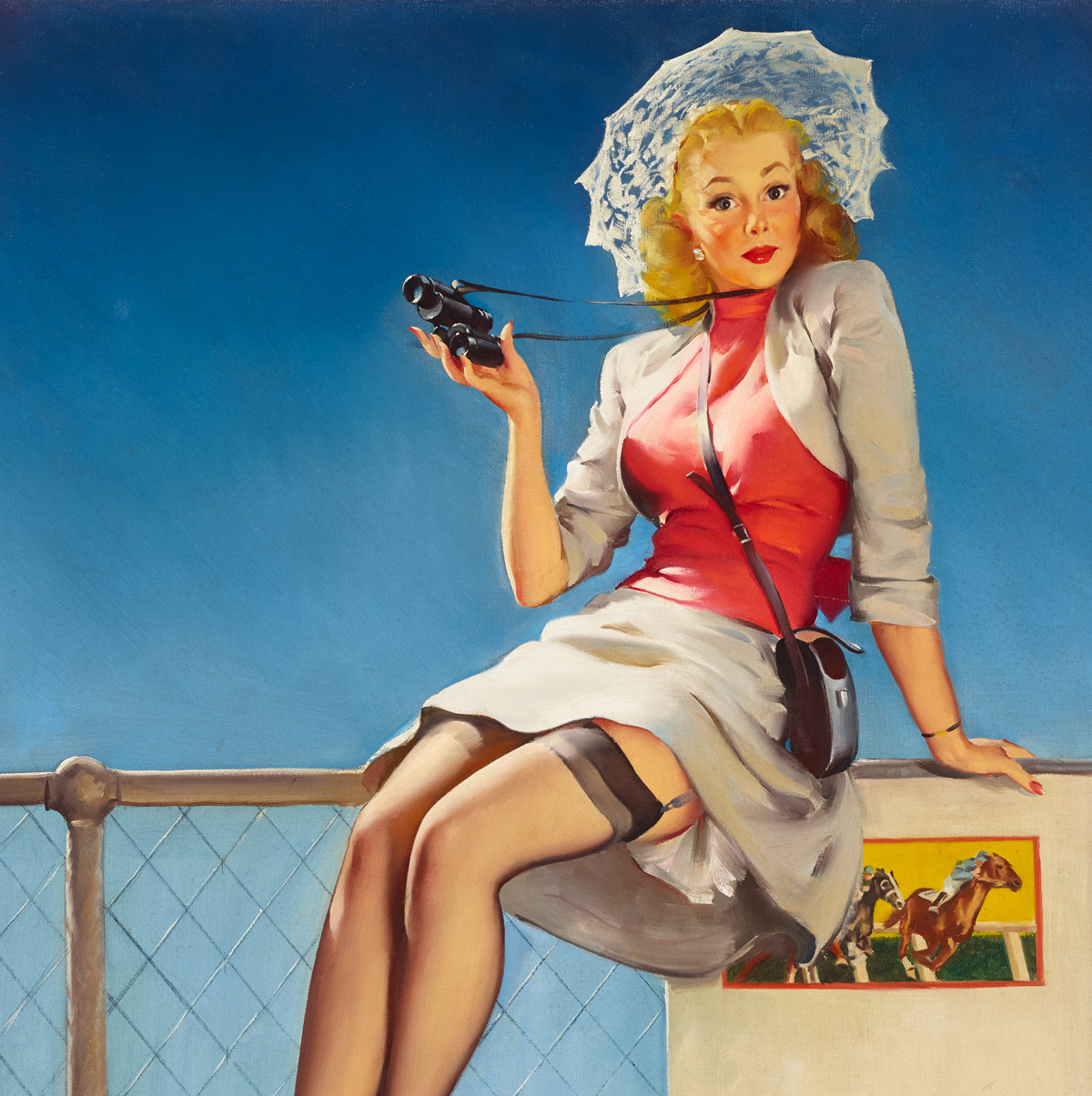 2019 Vintage Pinup Girl Gil Elvgren Hand Painted Art Oil: Gil Elvgren