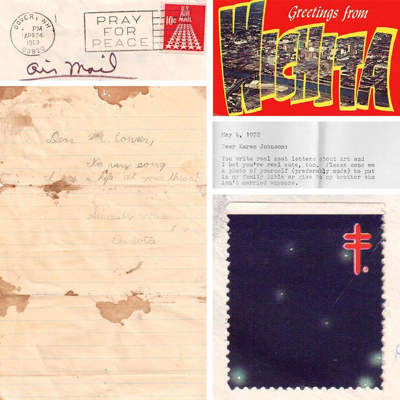 270: BRUCE CONNER, collection of letters and ephemera < Art + Design