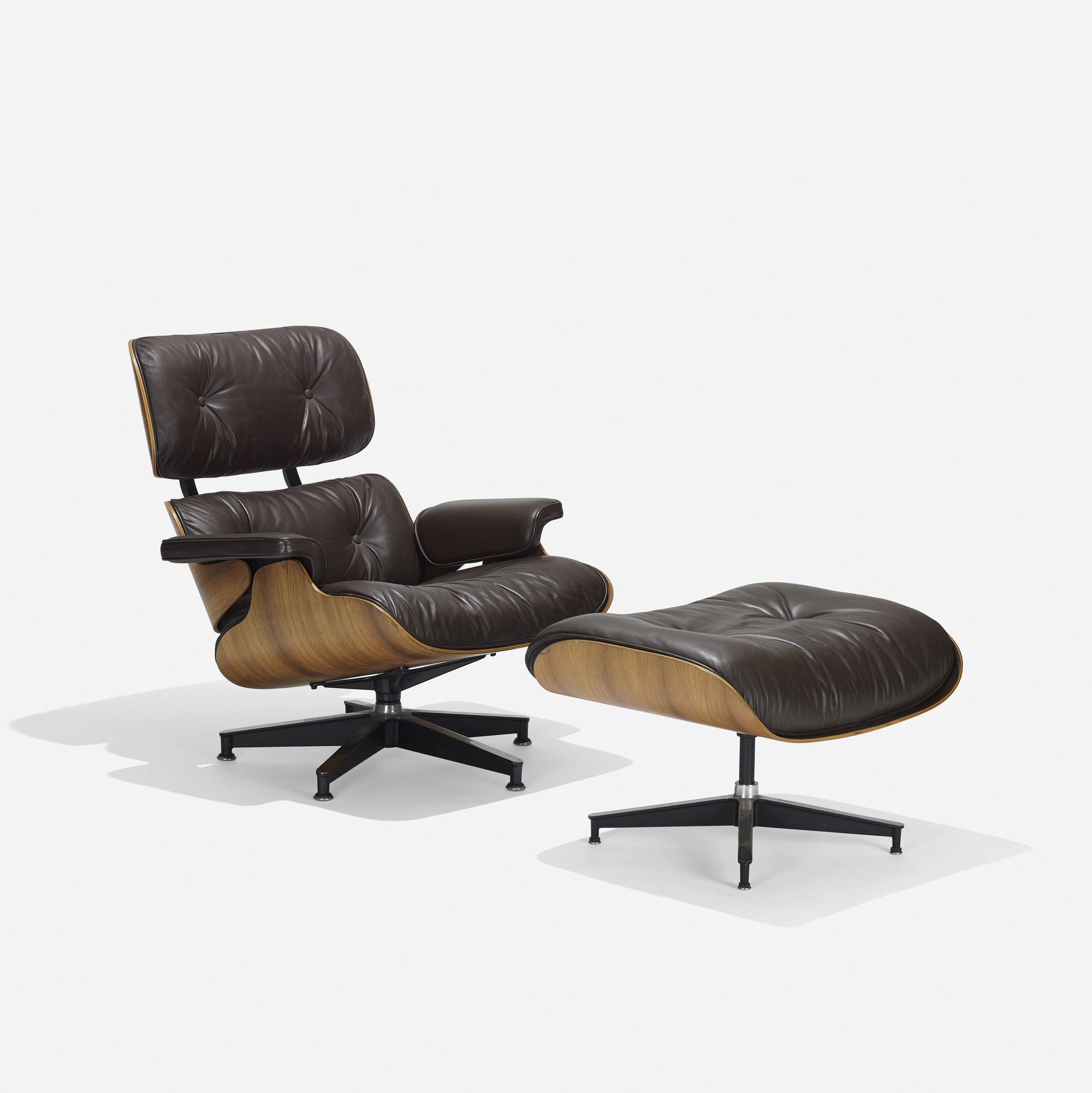 100 Charles and Ray Eames 670 lounge chair and 671 ottoman