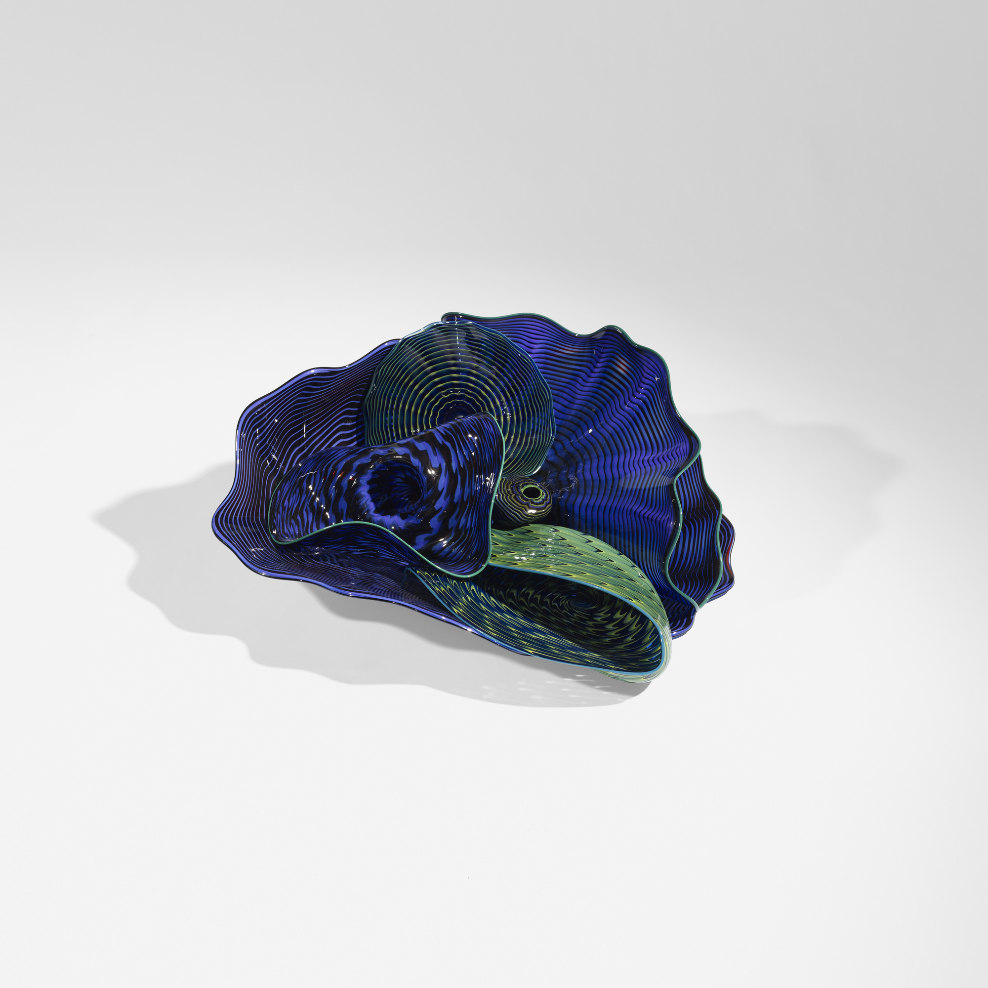 100: Dale Chihuly / Royal Blue and Chrome Green Persian Set (2 of 5)