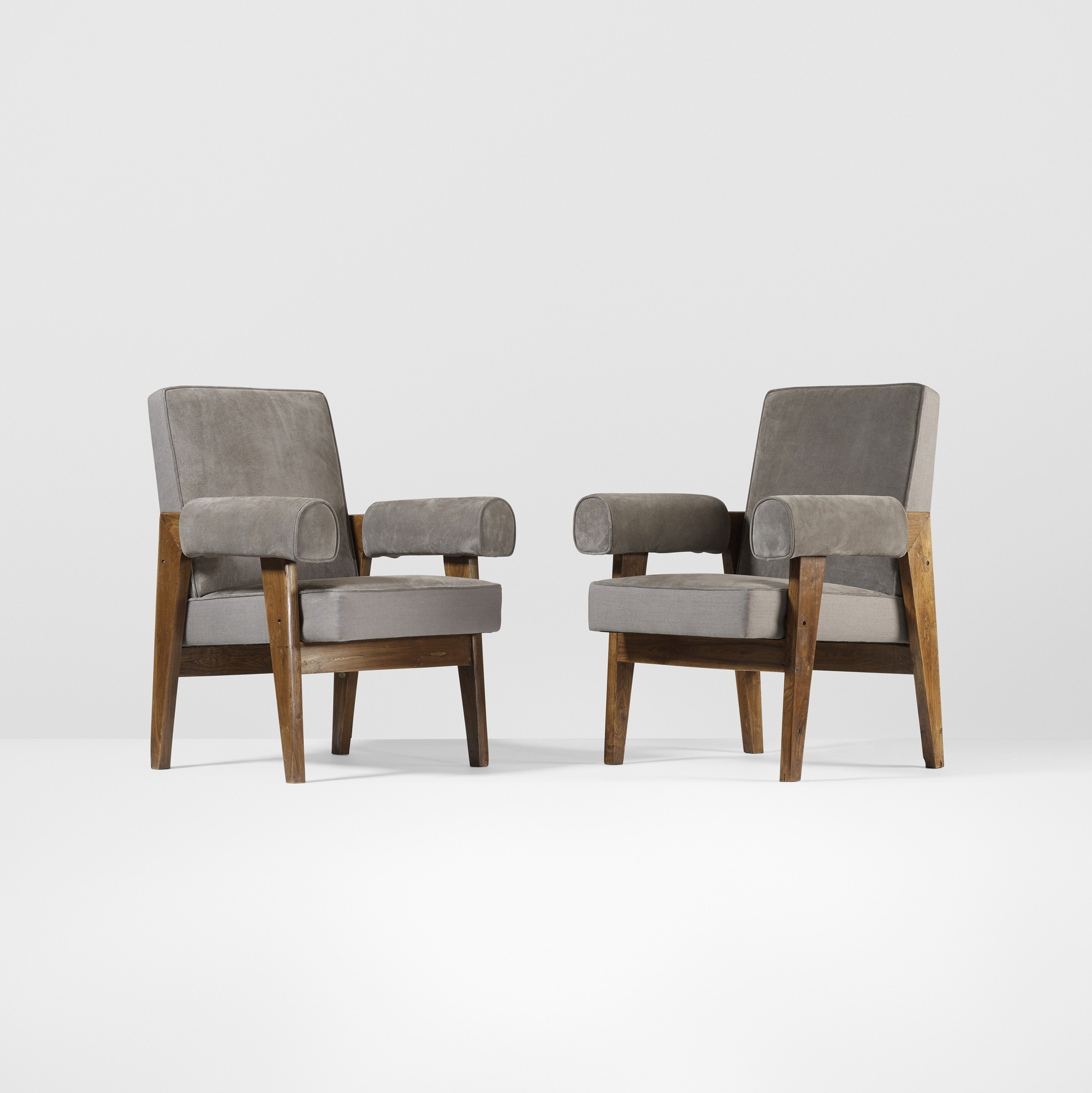 100: Le Corbusier and Pierre Jeanneret / pair of armchairs from ...