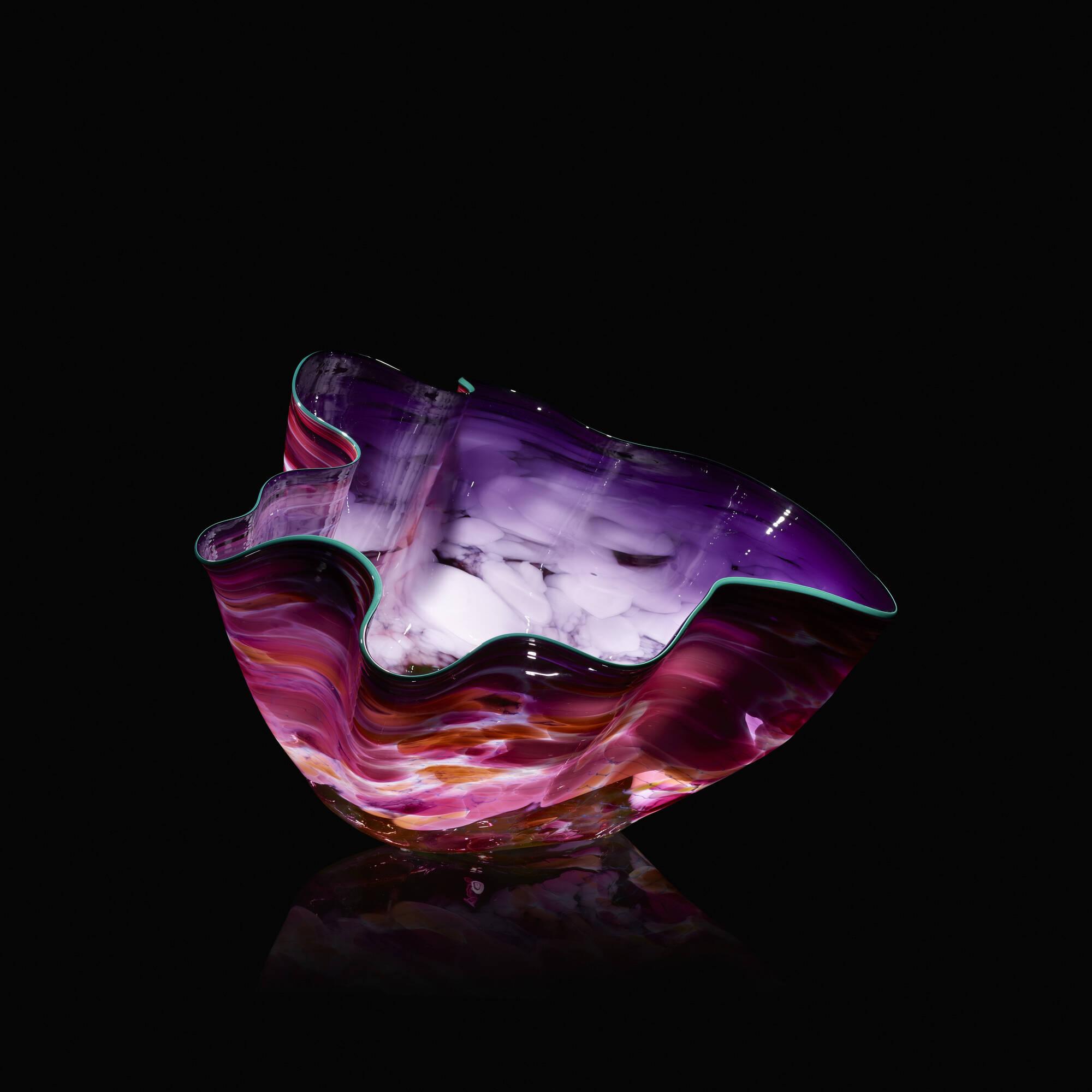 101: Dale Chihuly / Ultramarine Macchia with Emerald Lip Wrap (1 of 2)