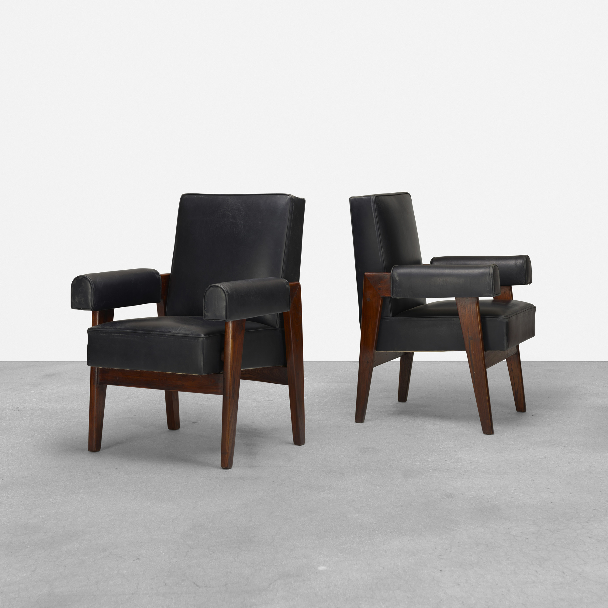101: Le Corbusier and Pierre Jeanneret / pair of armchairs from the High Court, Chandigarh (1 of 2)