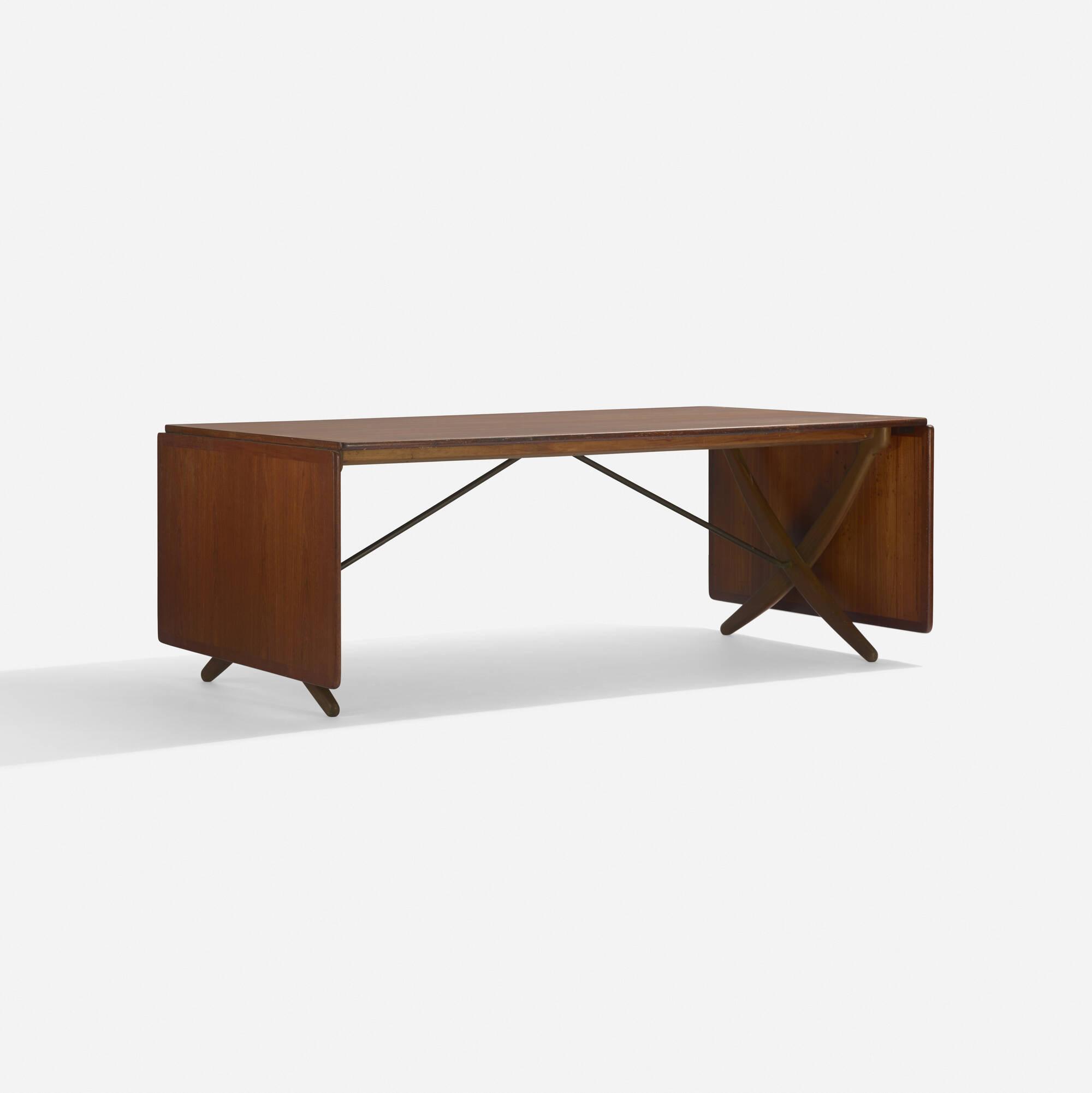 101: Hans J. Wegner / drop-leaf dining table, model AT304 (1 of 3)