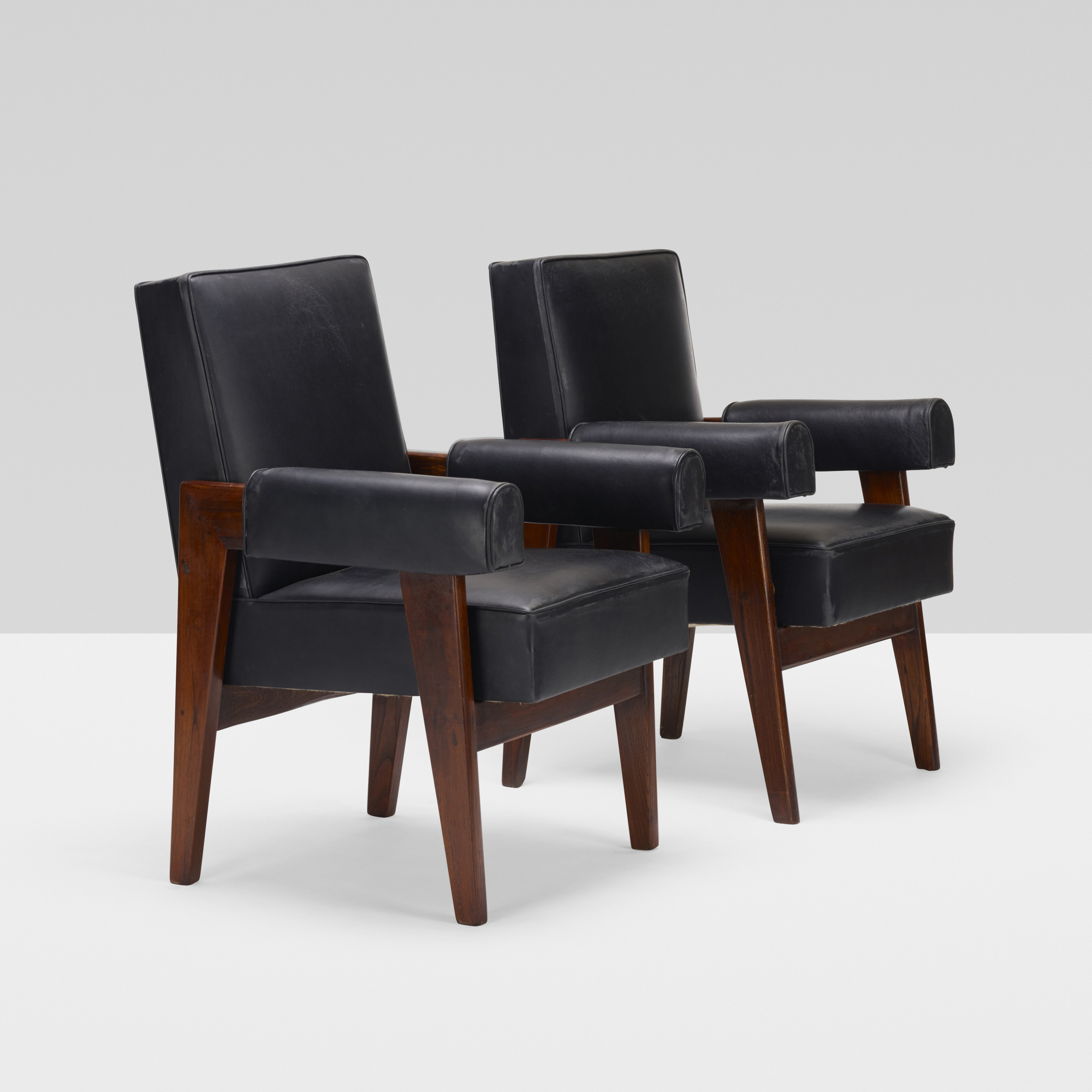 101: Le Corbusier and Pierre Jeanneret / pair of armchairs from the High Court, Chandigarh (2 of 2)