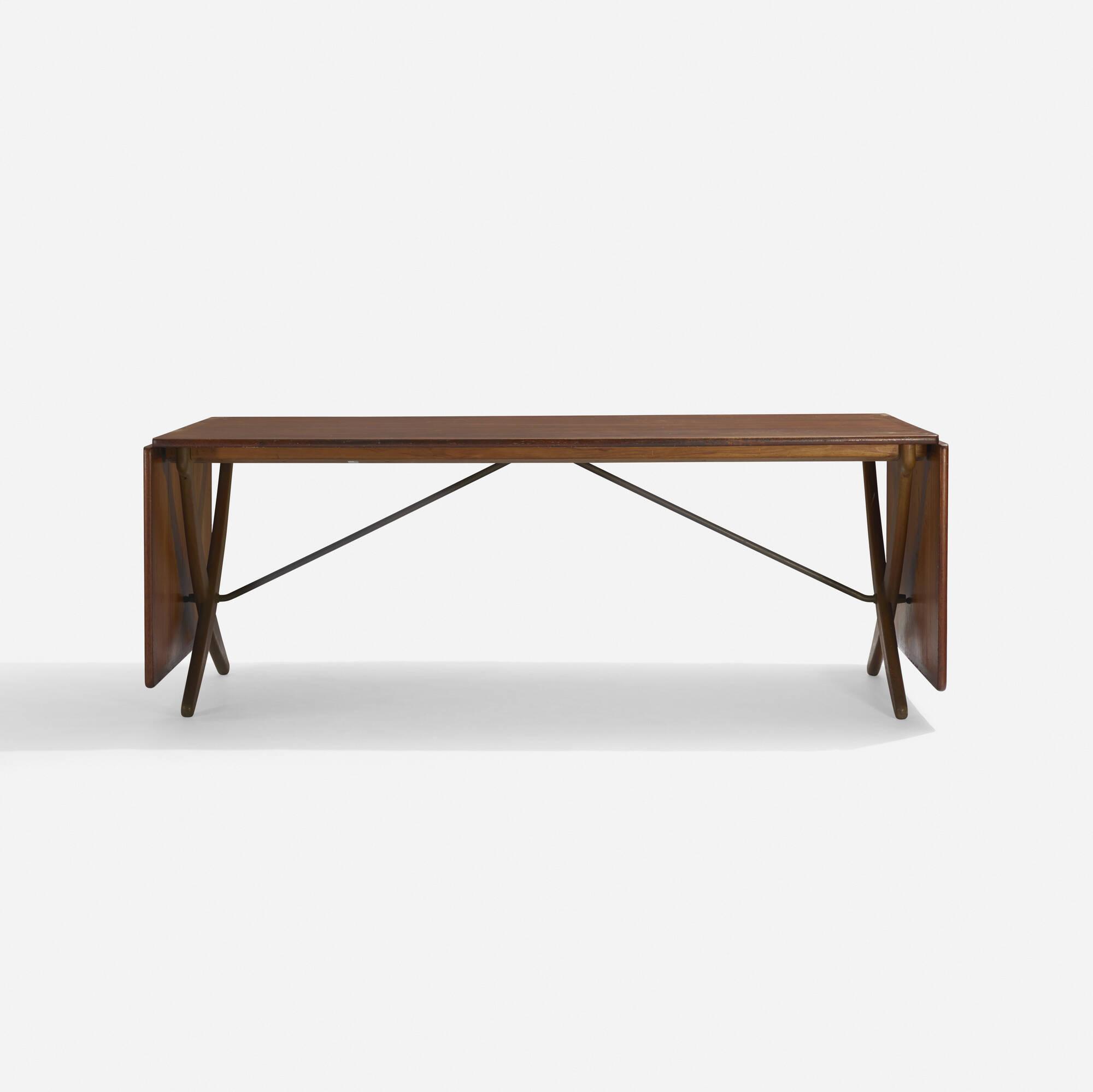 101: Hans J. Wegner / drop-leaf dining table, model AT304 (2 of 3)