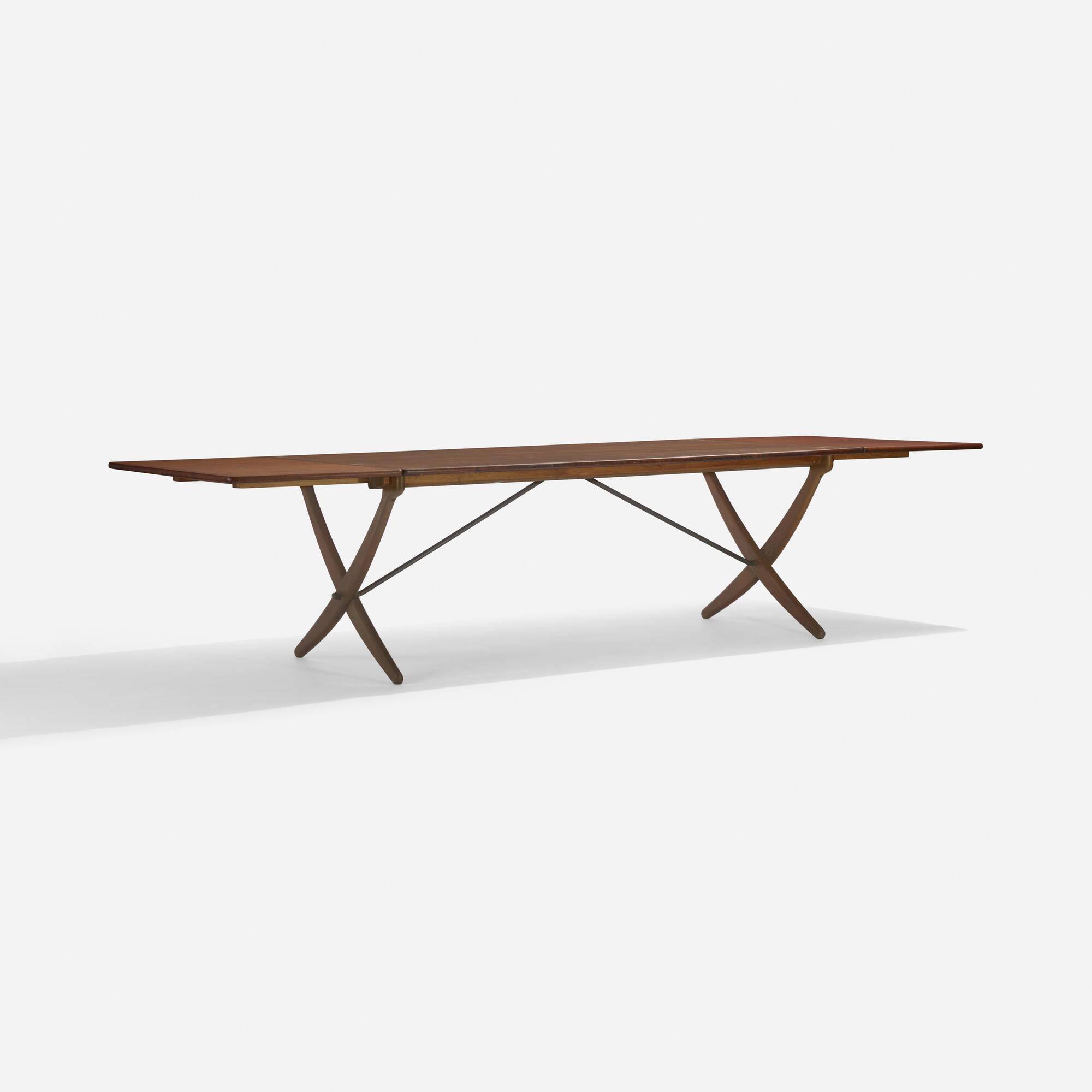 101: Hans J. Wegner / drop-leaf dining table, model AT304 (3 of 3)