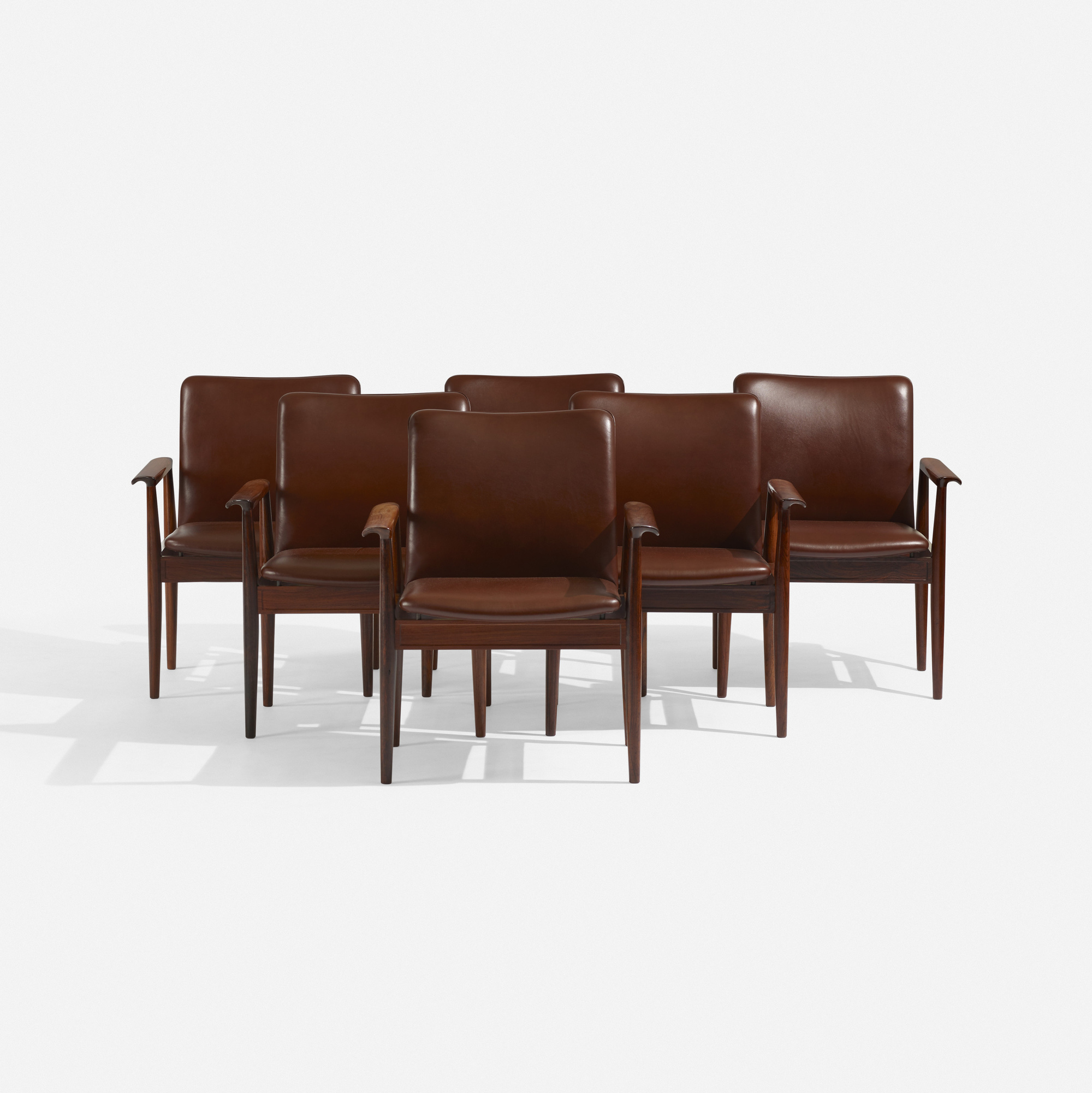 102: Finn Juhl / Diplomat armchairs, set of six (1 of 3)