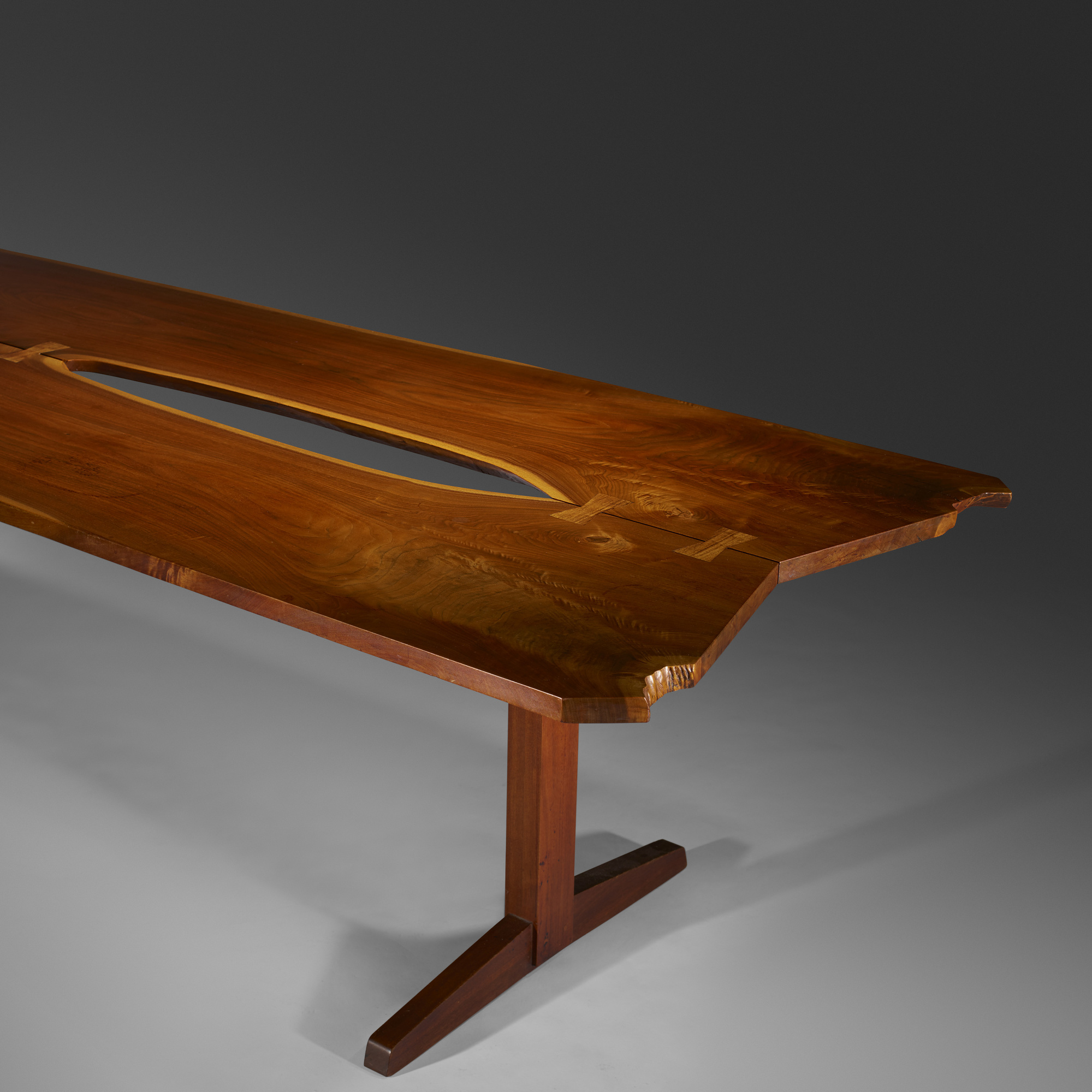 Nakashima Table 102: george nakashima / early and important trestle dining table