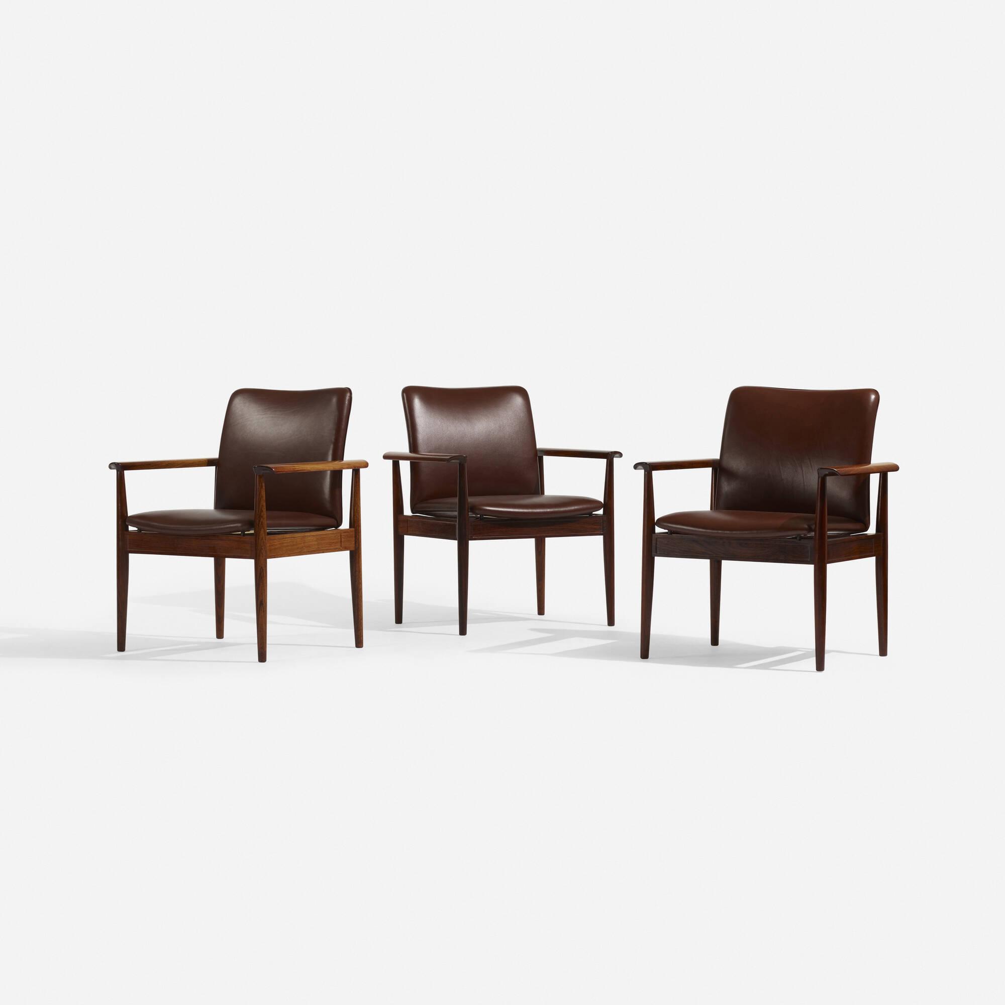 102: Finn Juhl / Diplomat armchairs, set of six (2 of 3)