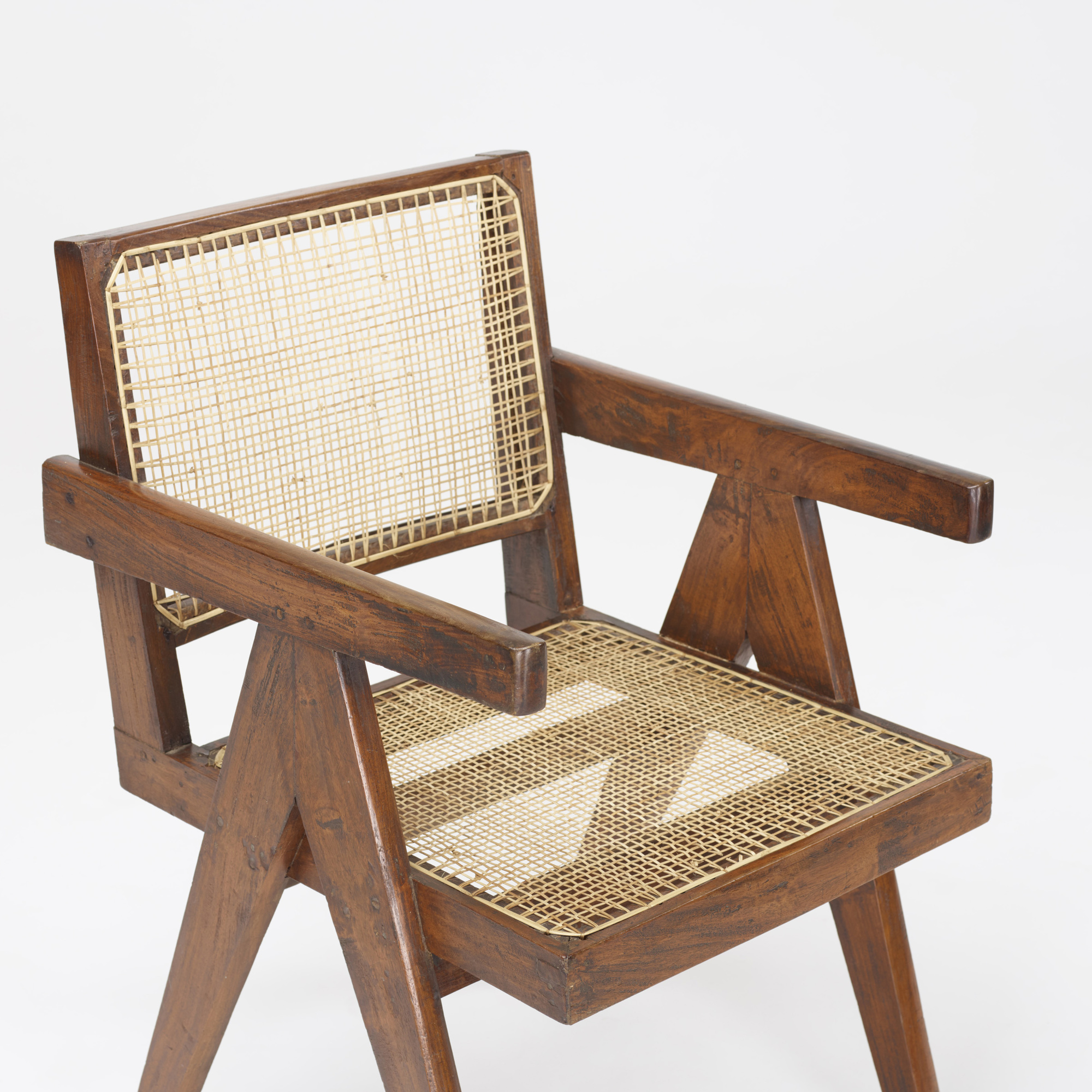 ... 102: Pierre Jeanneret / Office Armchairs From Chandigarh, Pair (3 Of 3)