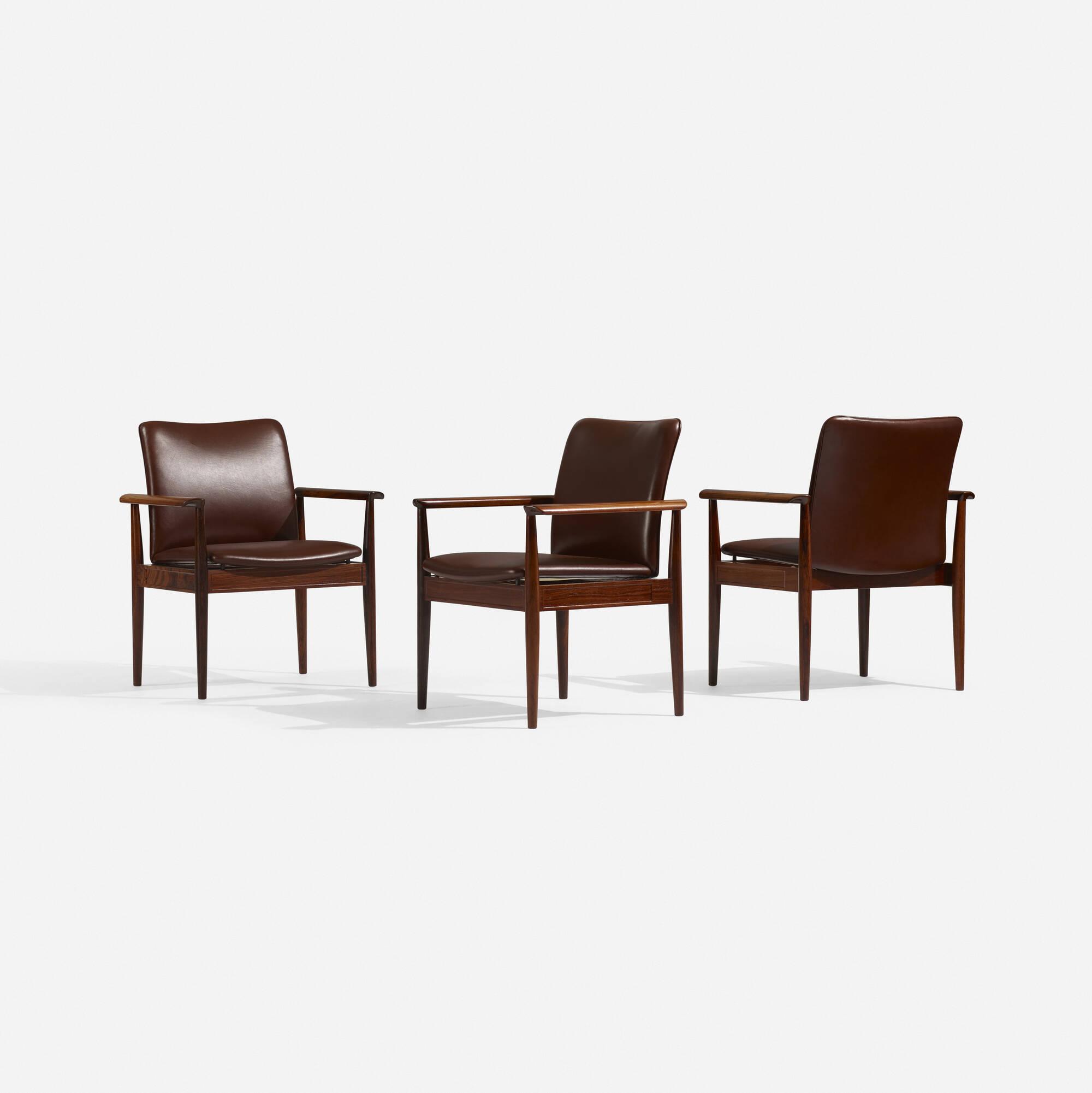 102: Finn Juhl / Diplomat armchairs, set of six (3 of 3)