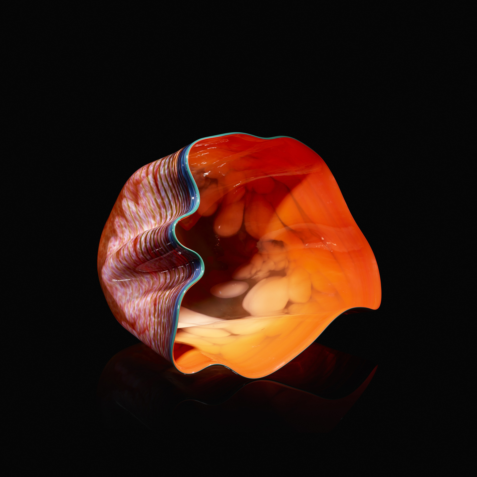103: Dale Chihuly / Cadmium Red Light Macchia with Emerald Lip Wrap (1 of 4)