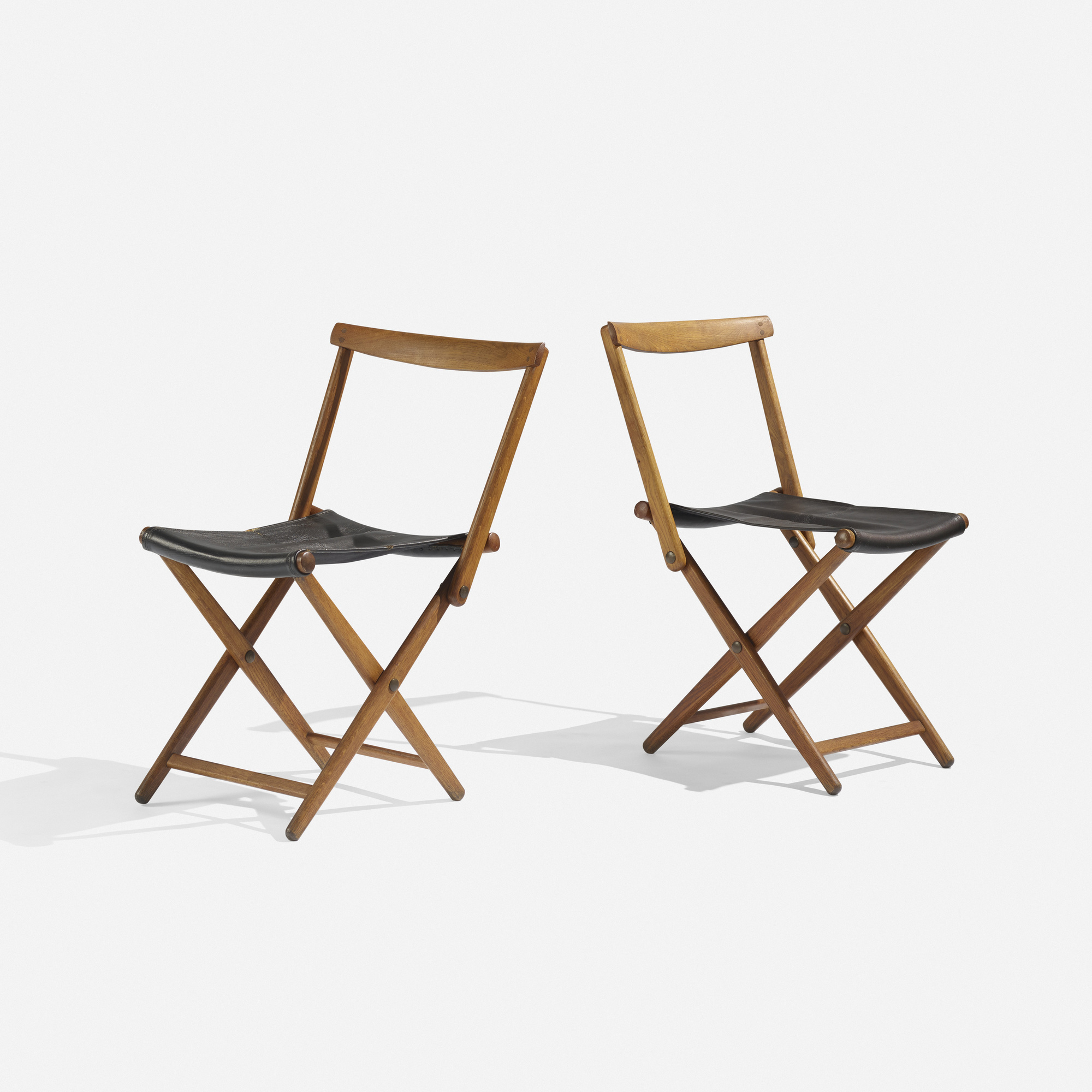103 Torsten Johansson folding chairs pair Scandinavian