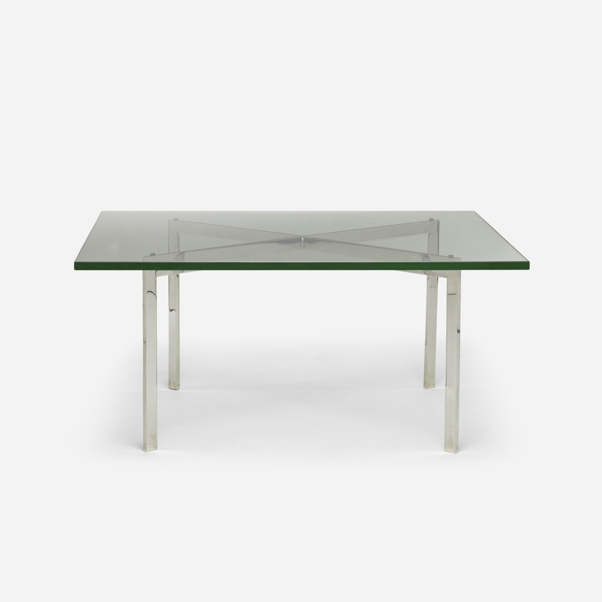 103 Ludwig Mies van der Rohe Barcelona table from the entrance