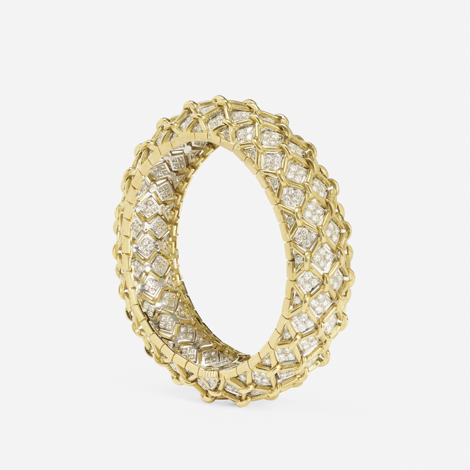 103:  / A gold, platinum and diamond bracelet (2 of 2)