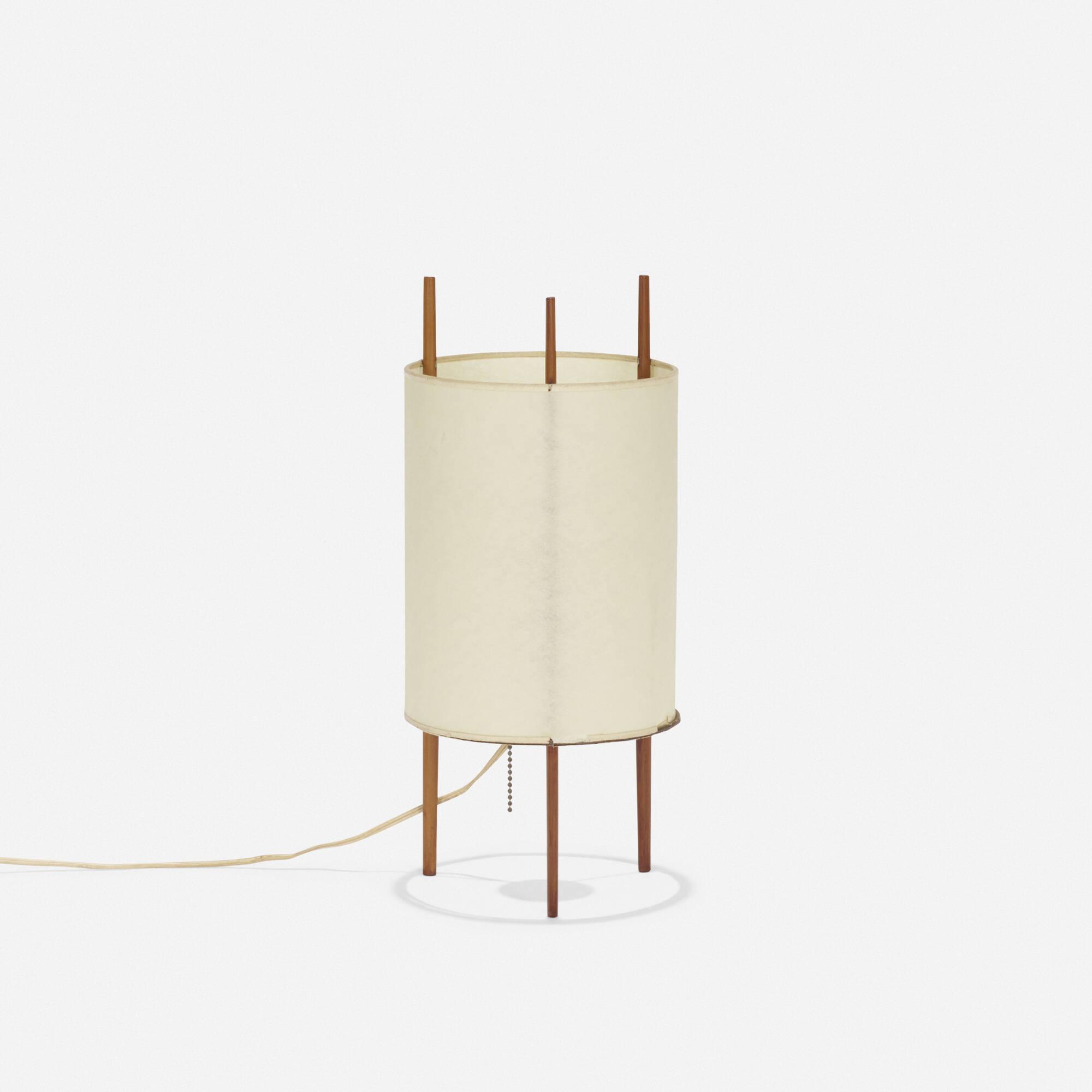 isamu noguchi lighting. 104: Isamu Noguchi / Table Lamp, Model 9 (1 Of 2) Lighting