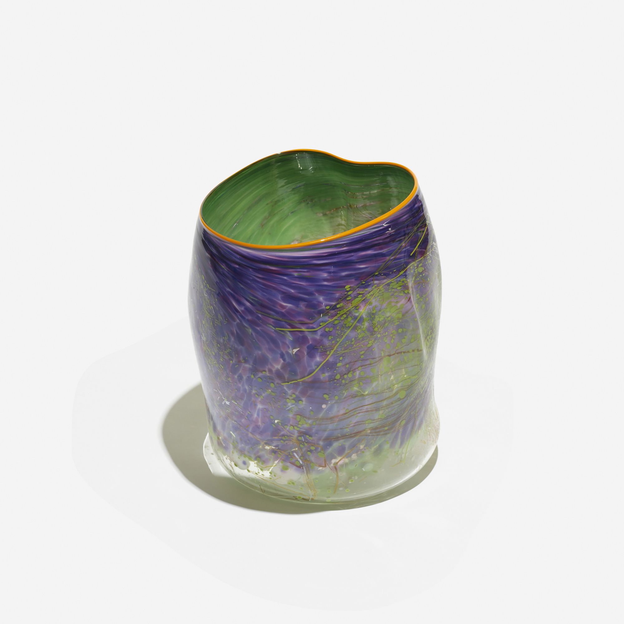 104: Dale Chihuly / Purple Lake Soft Cylinder with Terre Verte Drawing (2 of 3)