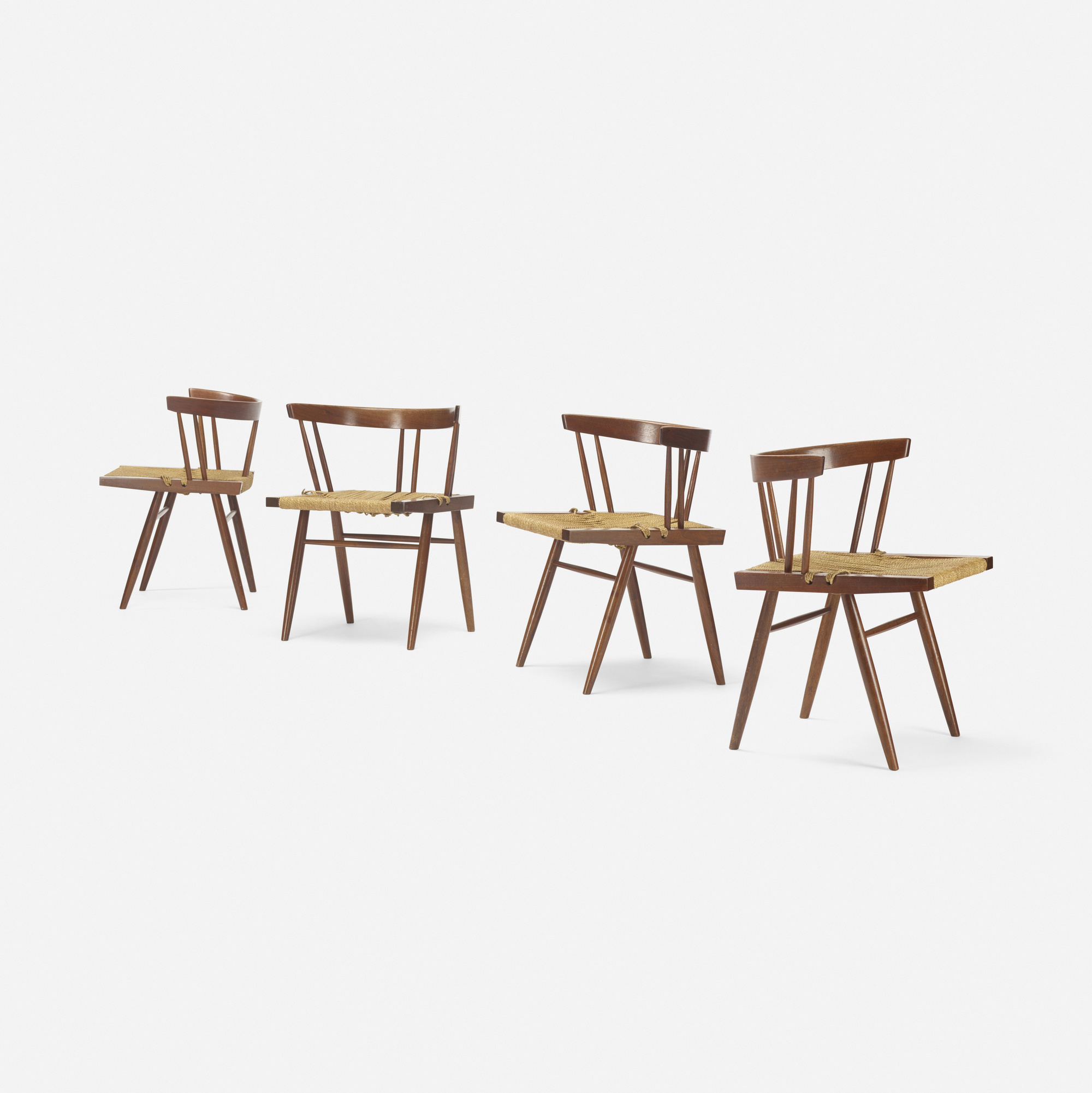104: George Nakashima / Grass-Seated chairs, set of four (2 of 4)
