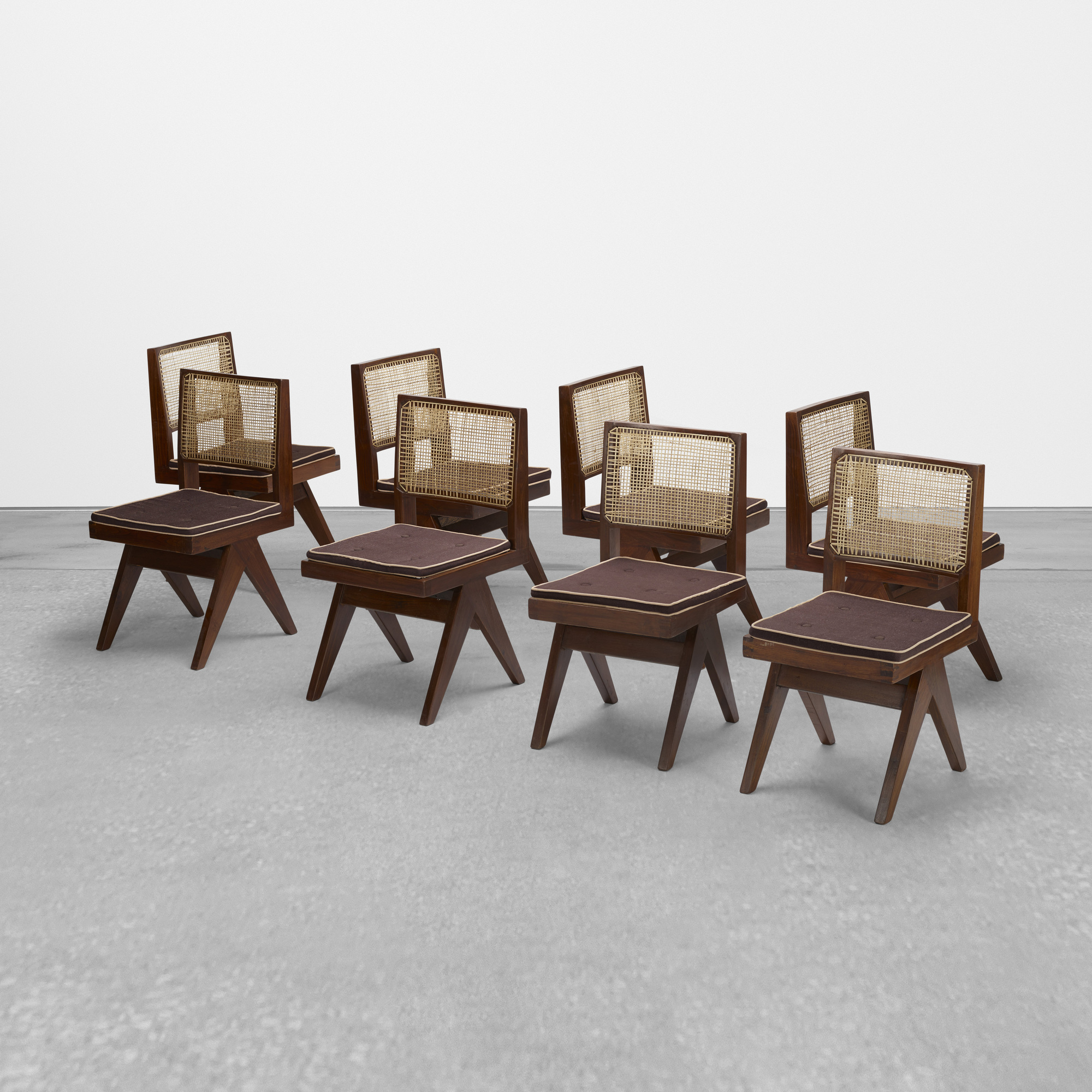 104: Pierre Jeanneret / set of eight chairs from Chandigarh (2 of 4)