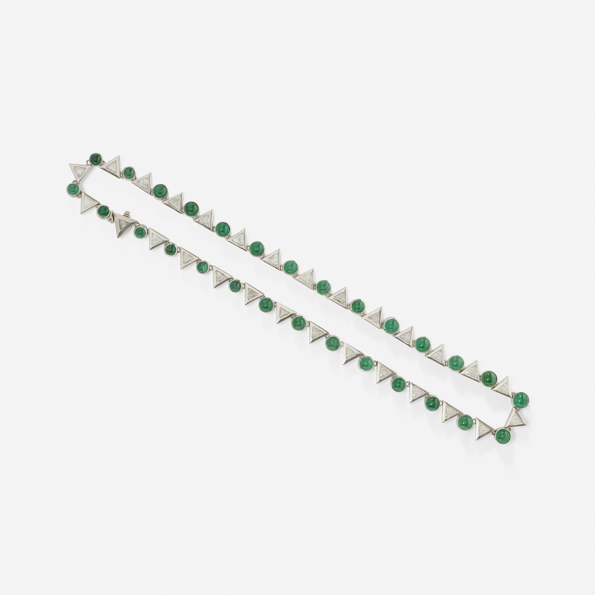 104:  / A platinum, emerald and diamond necklace (2 of 2)