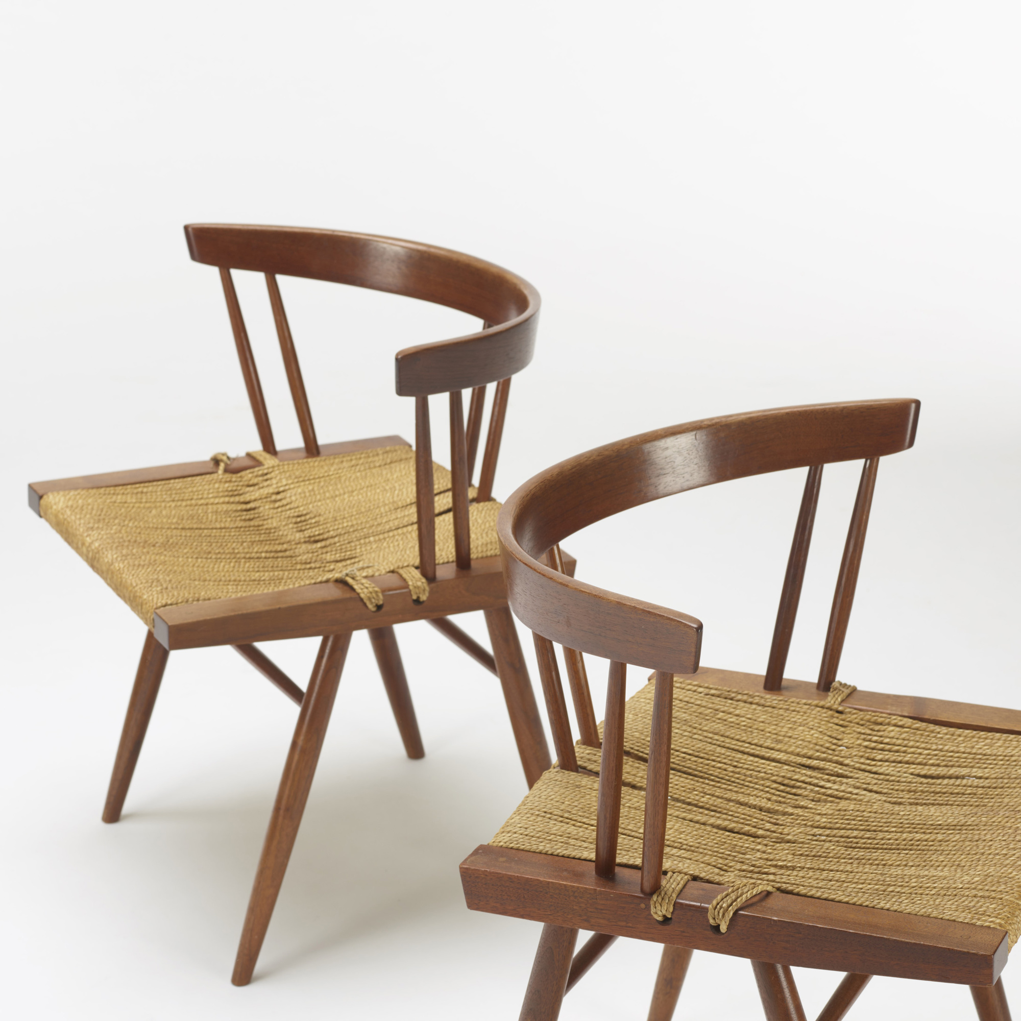 104: George Nakashima / Grass-Seated chairs, set of four (3 of 4)