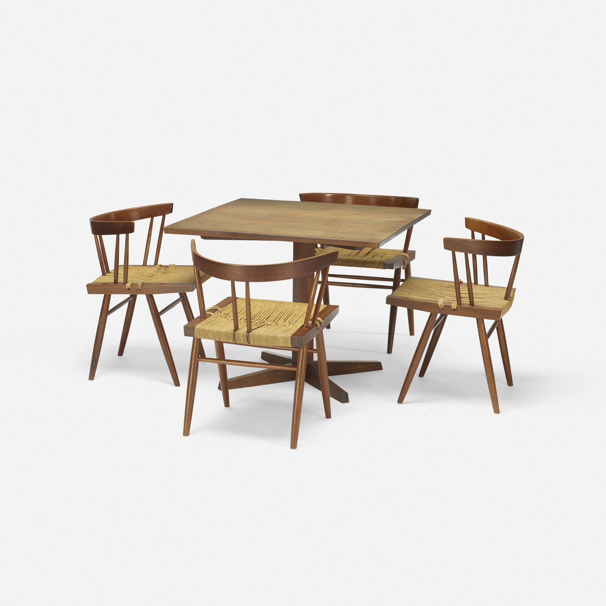 104: George Nakashima / Grass-Seated chairs, set of four (4 of 4)