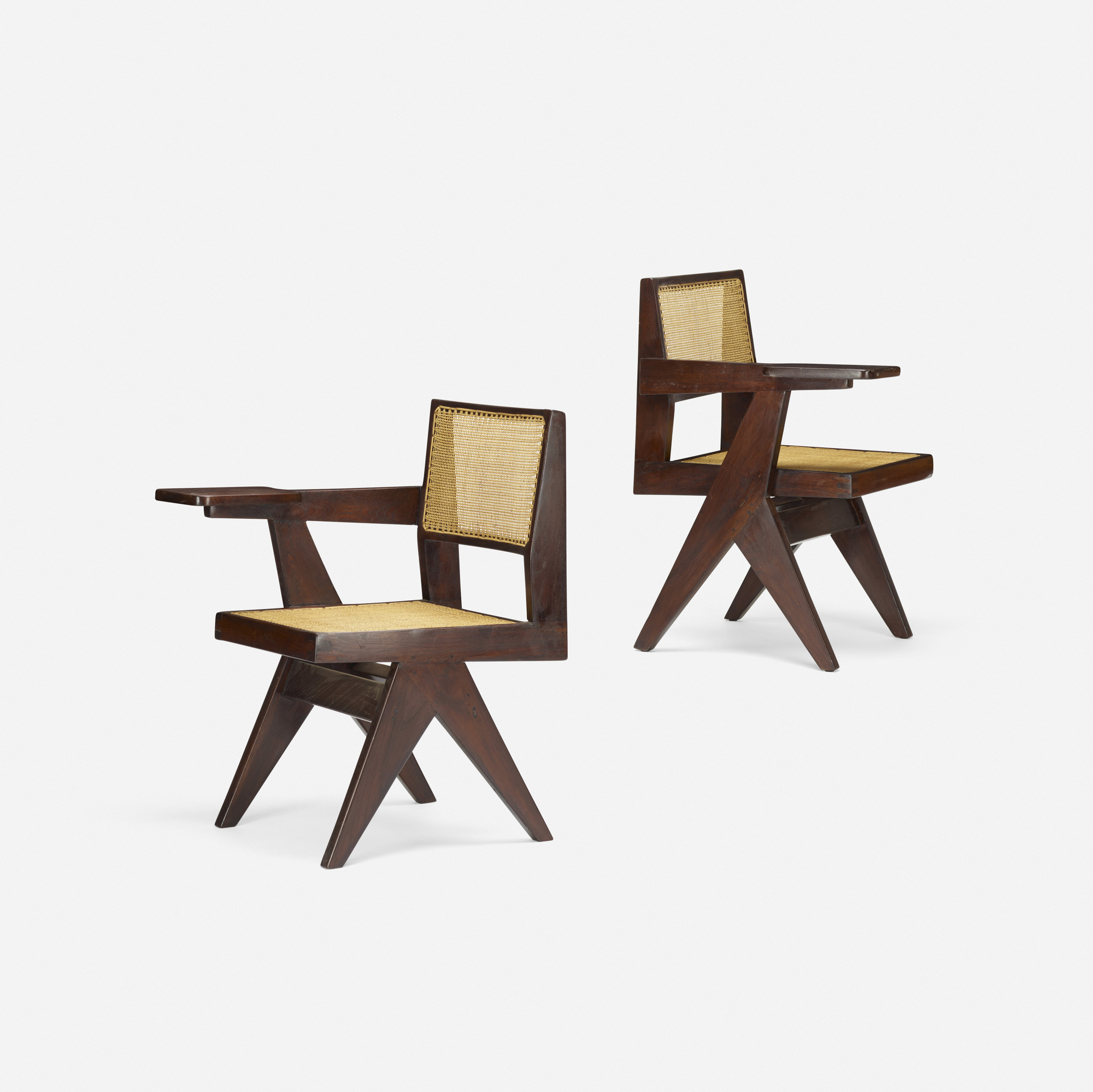 106: Pierre Jeanneret / pair of writing chairs from Chandigarh (1 of 3)