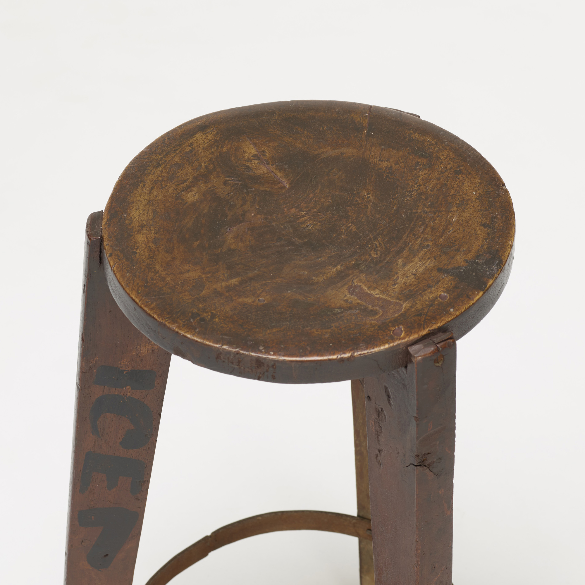 106: Pierre Jeanneret / set of four stools from Punjab University, Chandigarh (3 of 4)