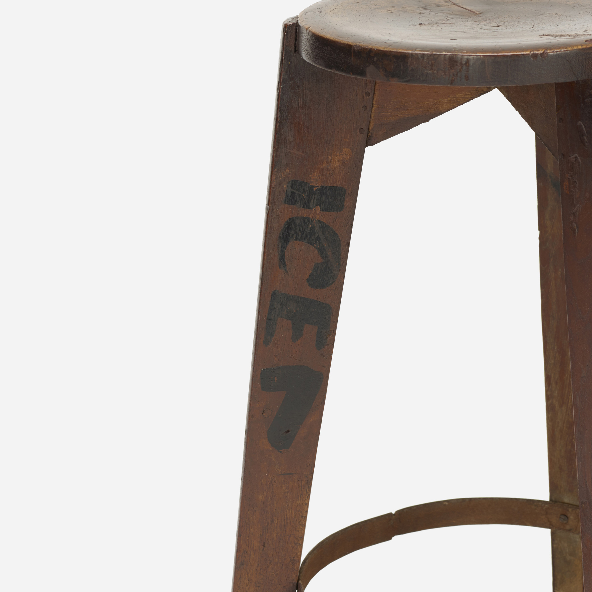 106: Pierre Jeanneret / set of four stools from Punjab University, Chandigarh (4 of 4)