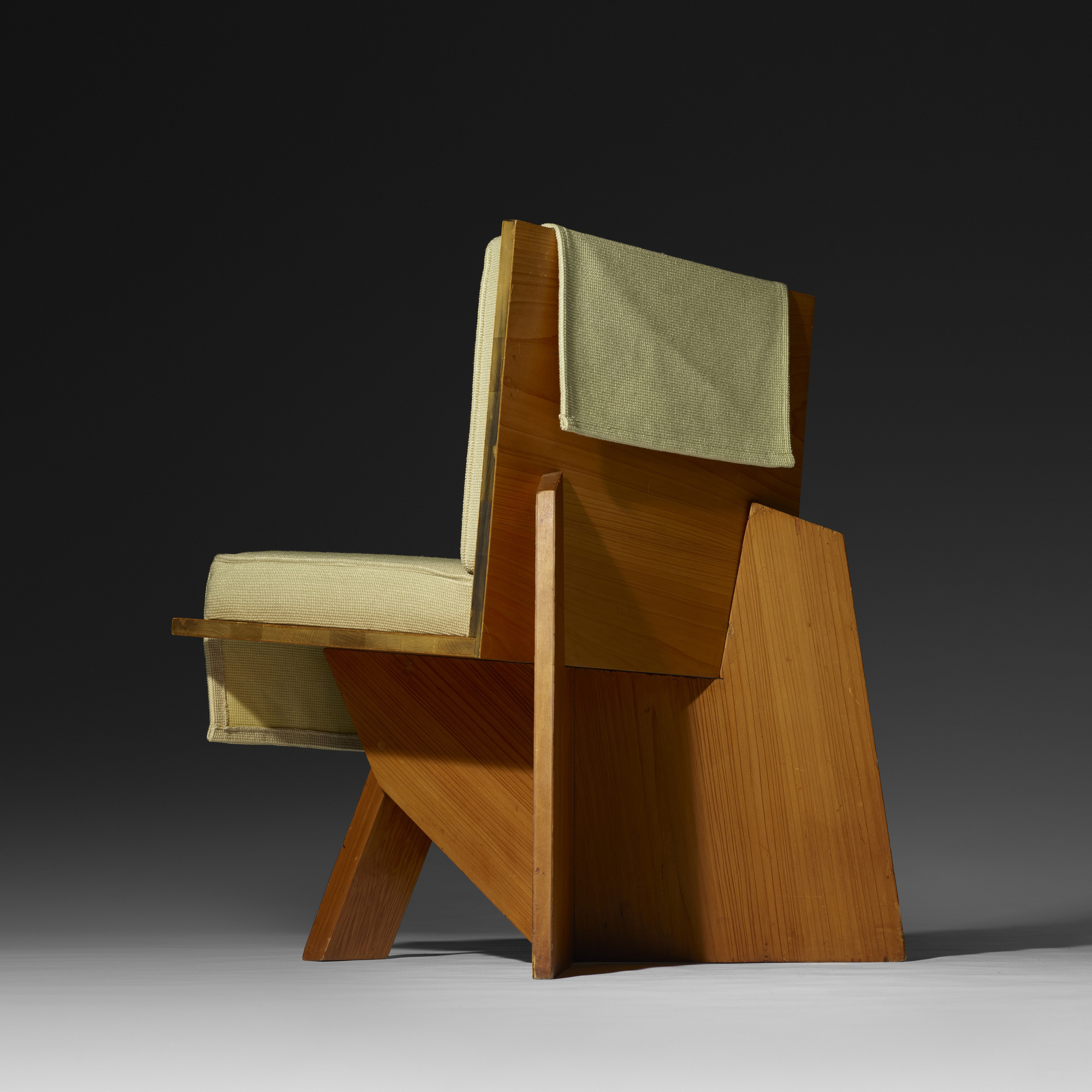 Sensational 106 Frank Lloyd Wright Lounge Chair From The Clarence Theyellowbook Wood Chair Design Ideas Theyellowbookinfo
