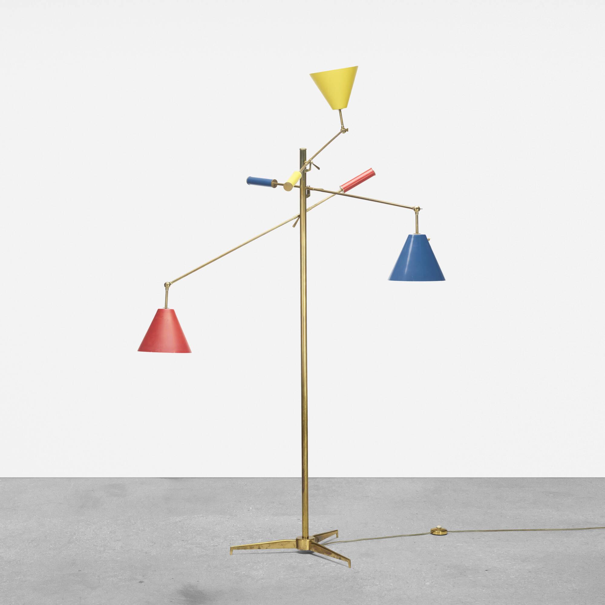 107: Angelo Lelii / three-arm floor lamp (1 of 2)