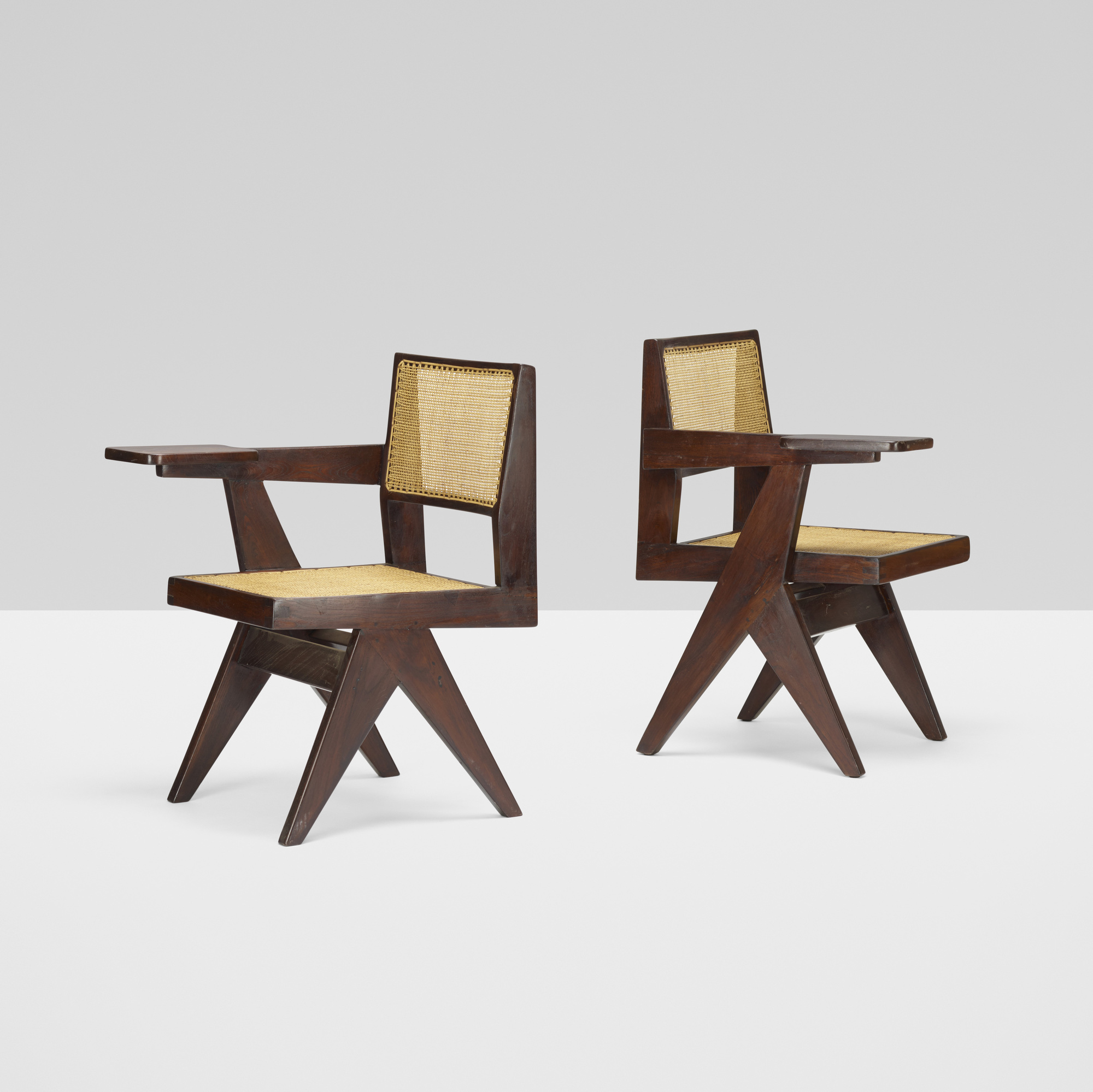 107: Pierre Jeanneret / pair of writing chairs from Chandigarh (1 of 3)