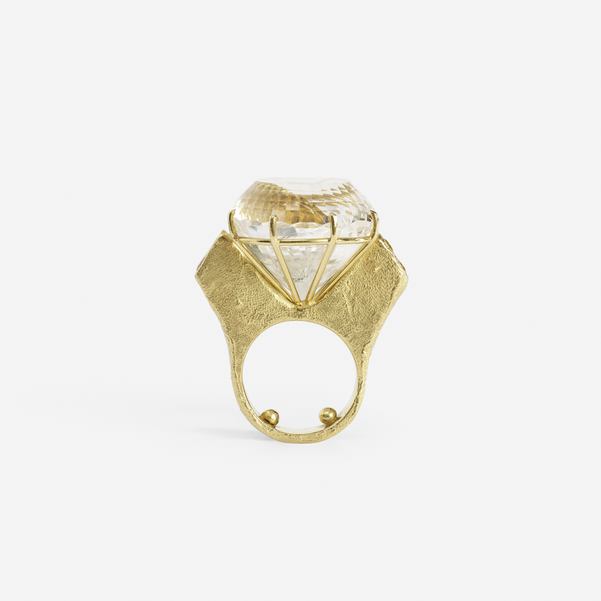 107:  / A gold and white topaz ring (1 of 2)