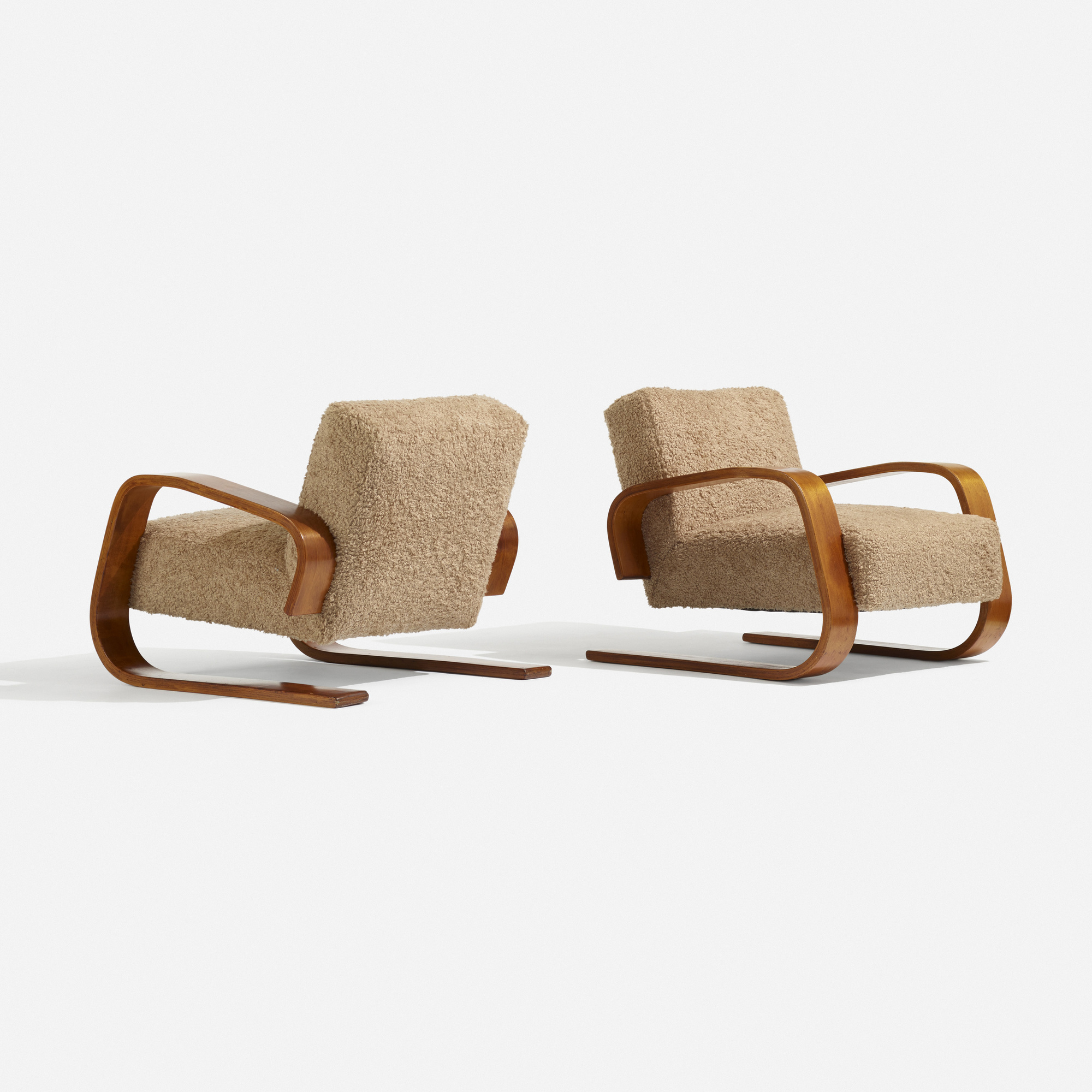 Armchair 400 � Tank� Lounge Chairs From Artek: 107: ALVAR AALTO, Tank Lounge Chairs Model 37/400, Pair