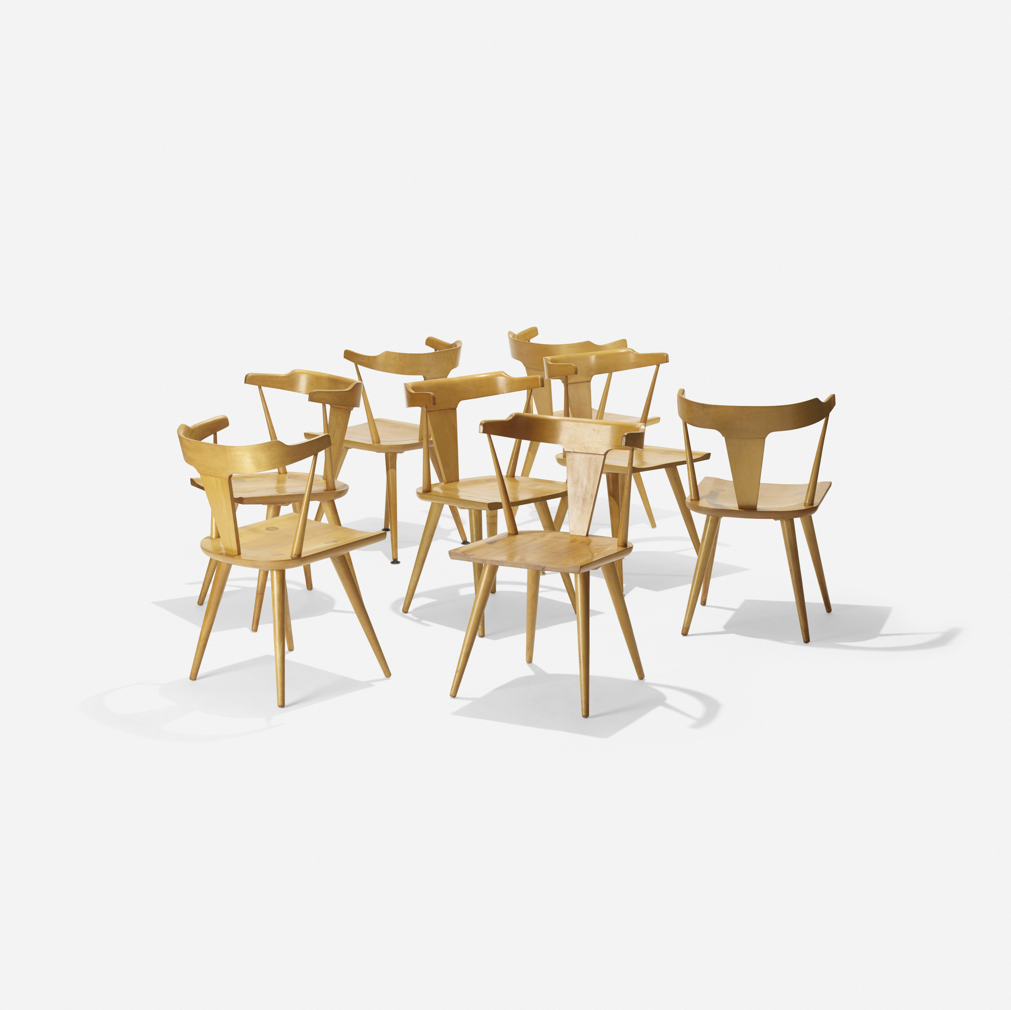 107 Paul Mccobb Planner Group Dining Chairs Model 1503