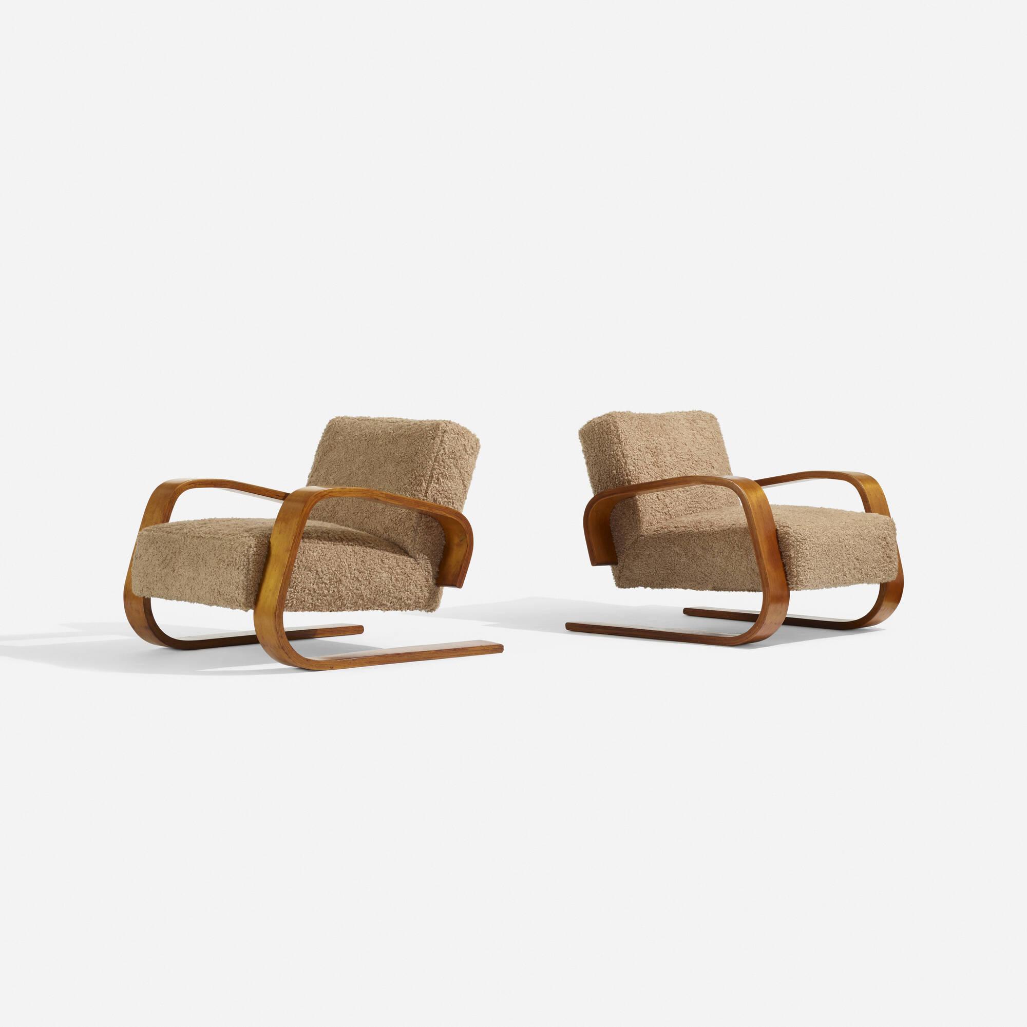 107: Alvar Aalto / Tank lounge chairs model 37/400, pair (2 of 3)