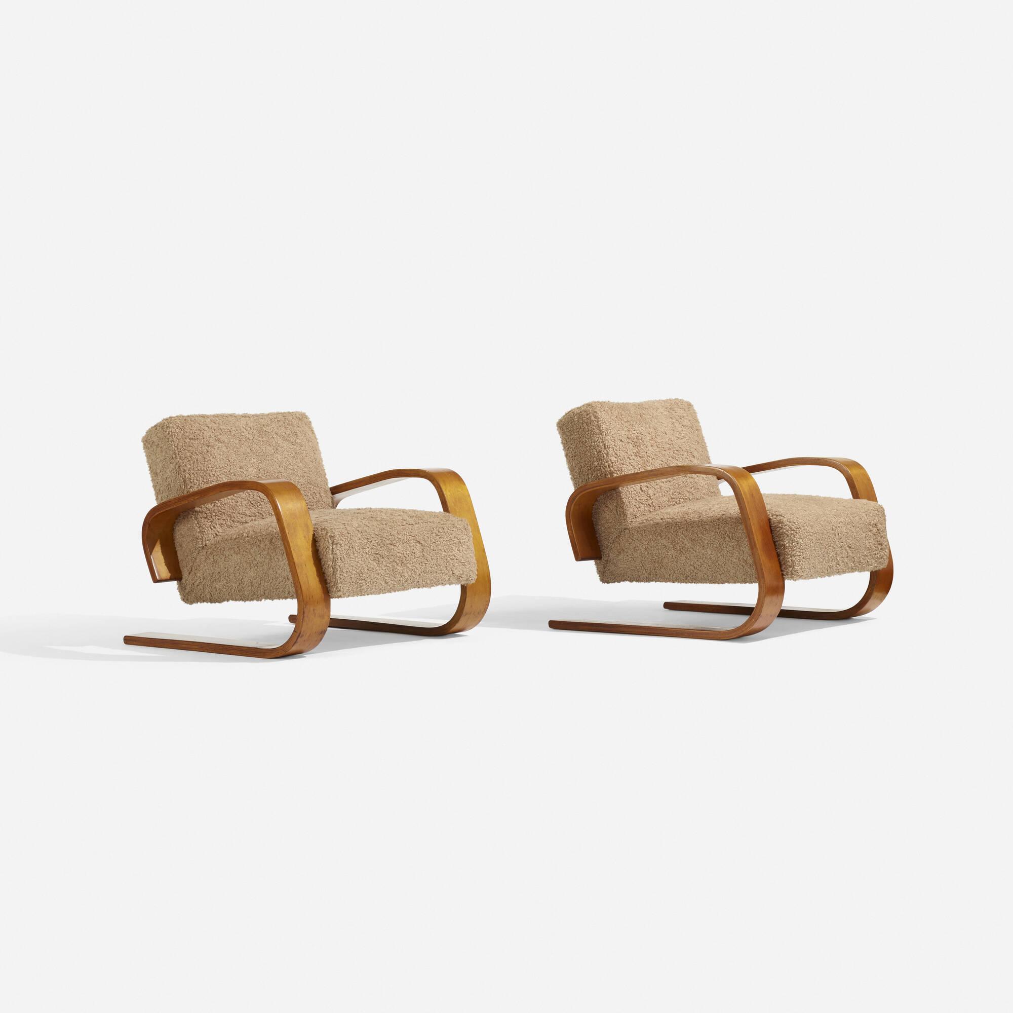 107: Alvar Aalto / Tank lounge chairs model 37/400, pair (3 of 3)