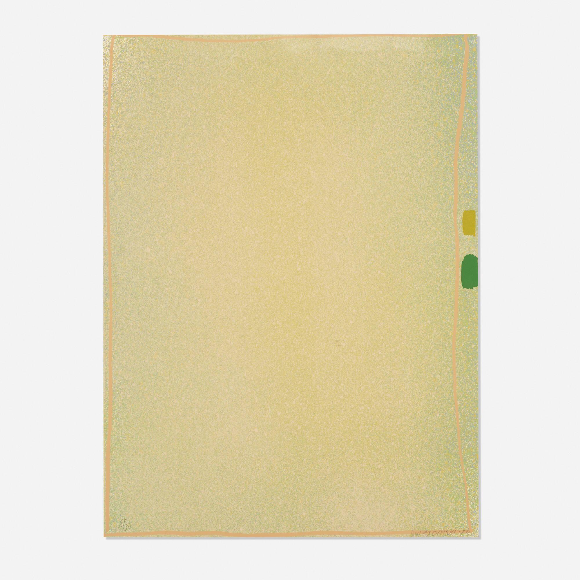108: Jules Olitski / Graphite Suite I (Yellow/Green with Flesh) (1 of 1)