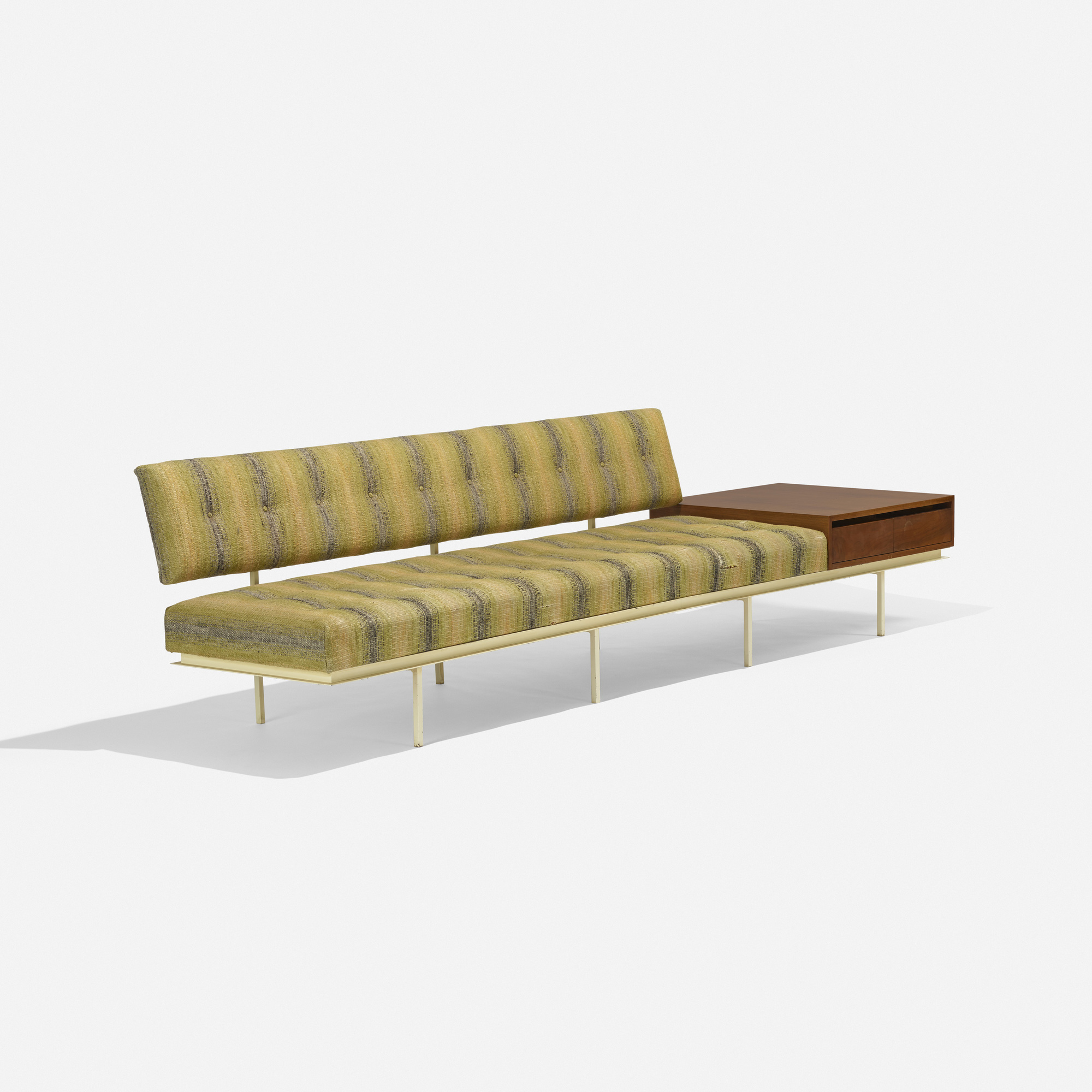 109 Florence Knoll sofa with attached table American Design