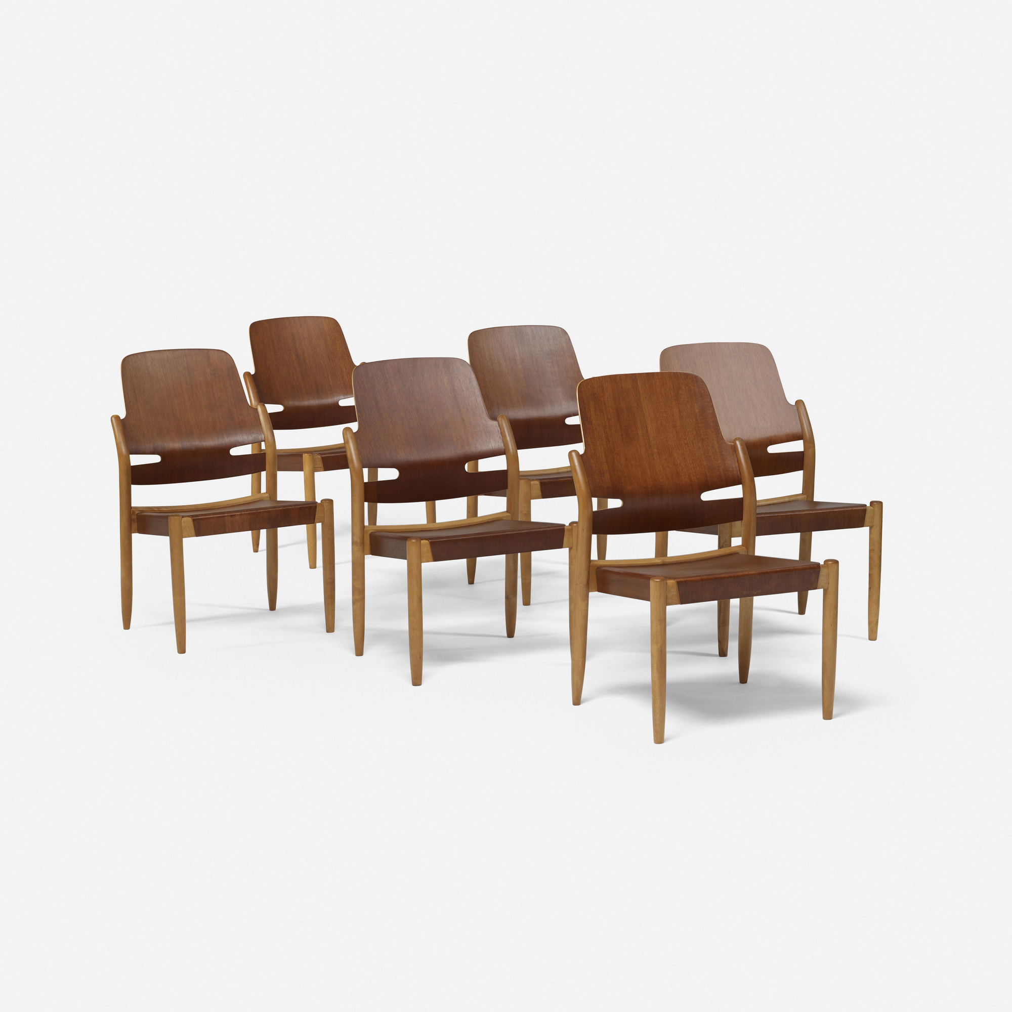 109 Carl Axel Acking dining chairs set of six Scandinavian