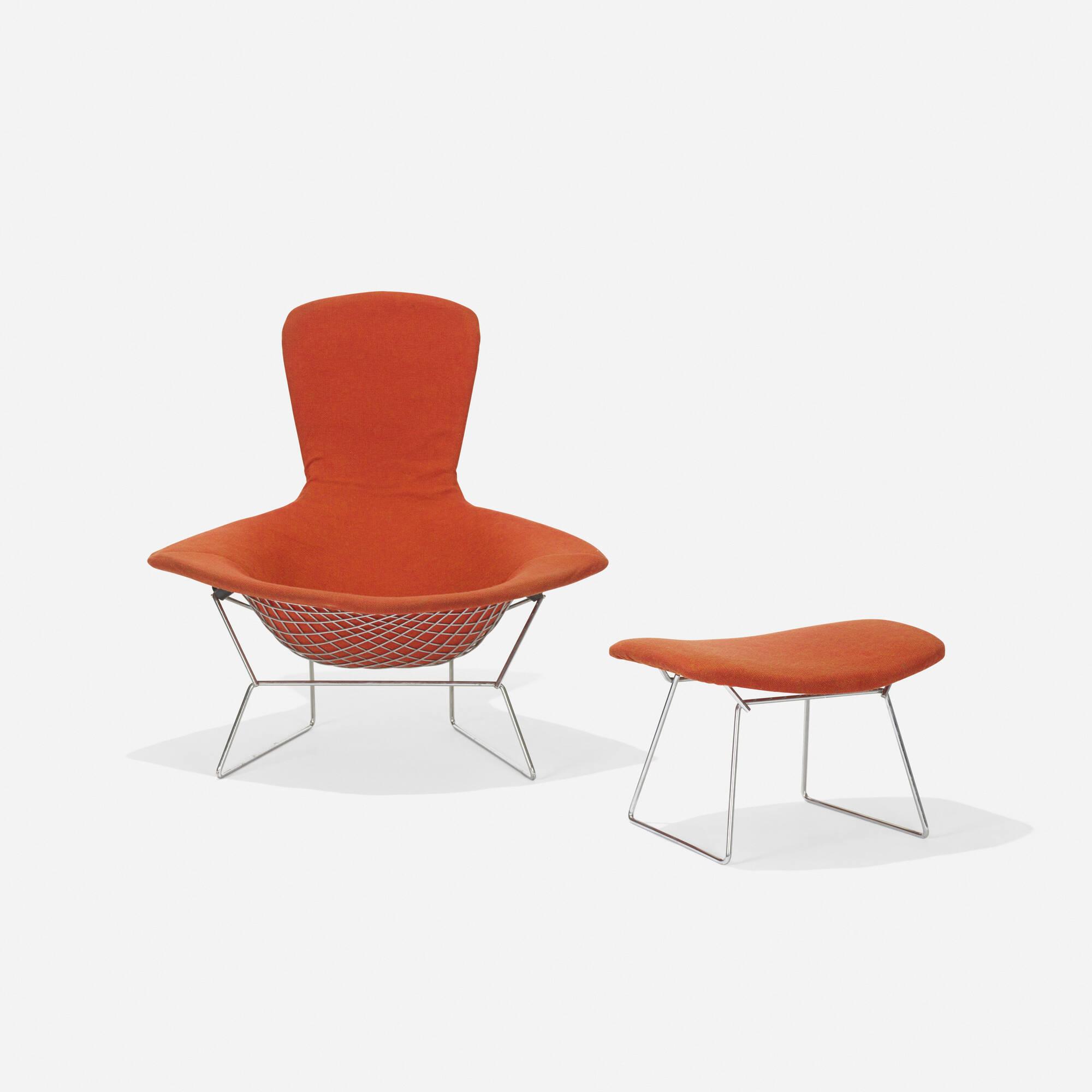 109 Harry Bertoia Bird chair and ottoman American Design 21