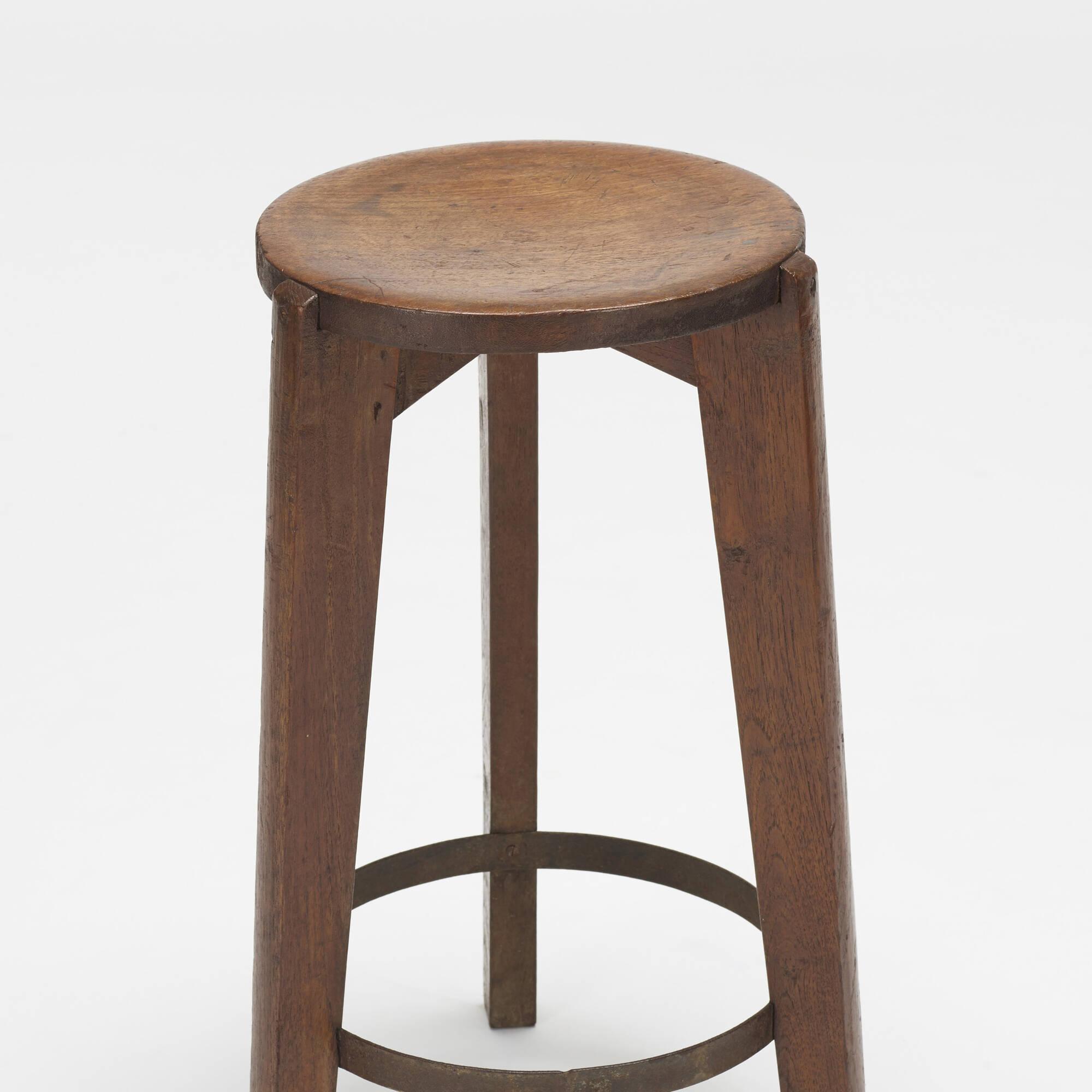 109: Pierre Jeanneret / set of three stools from Punjab University, Chandigarh (2 of 2)