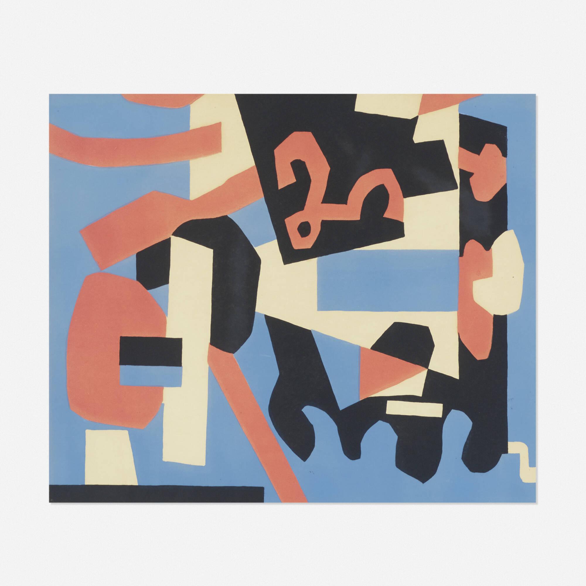 110: Stuart Davis / Detail Study for Cliché (1 of 1)