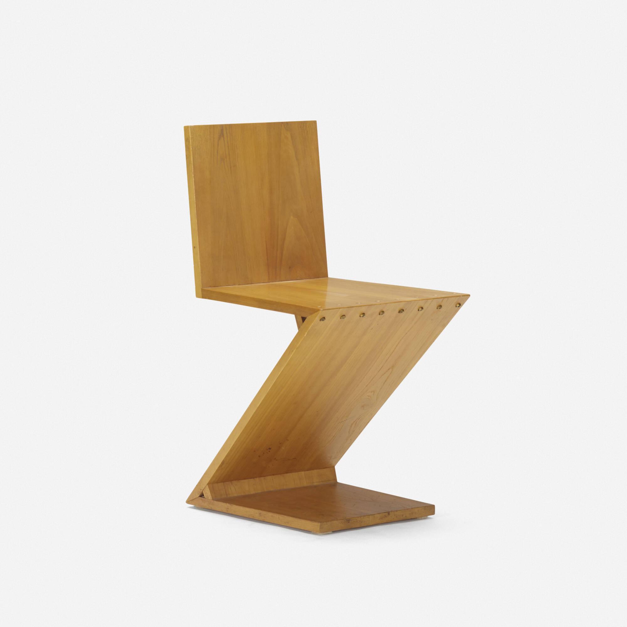 110 gerrit rietveld zig zag chair for Design stuhl zig zag