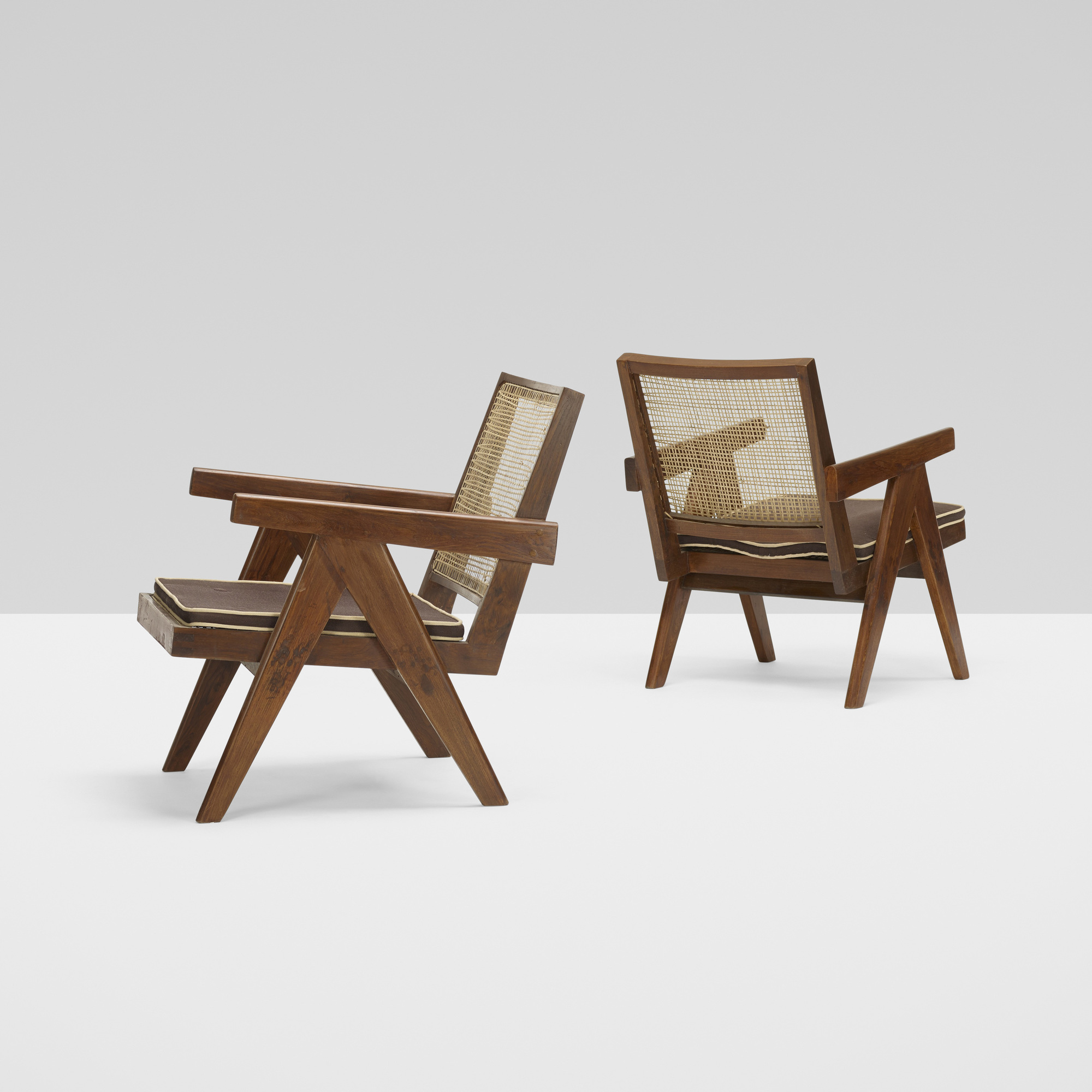 110: Pierre Jeanneret / pair of Easy armchairs from Chandiarh (2 of 3)