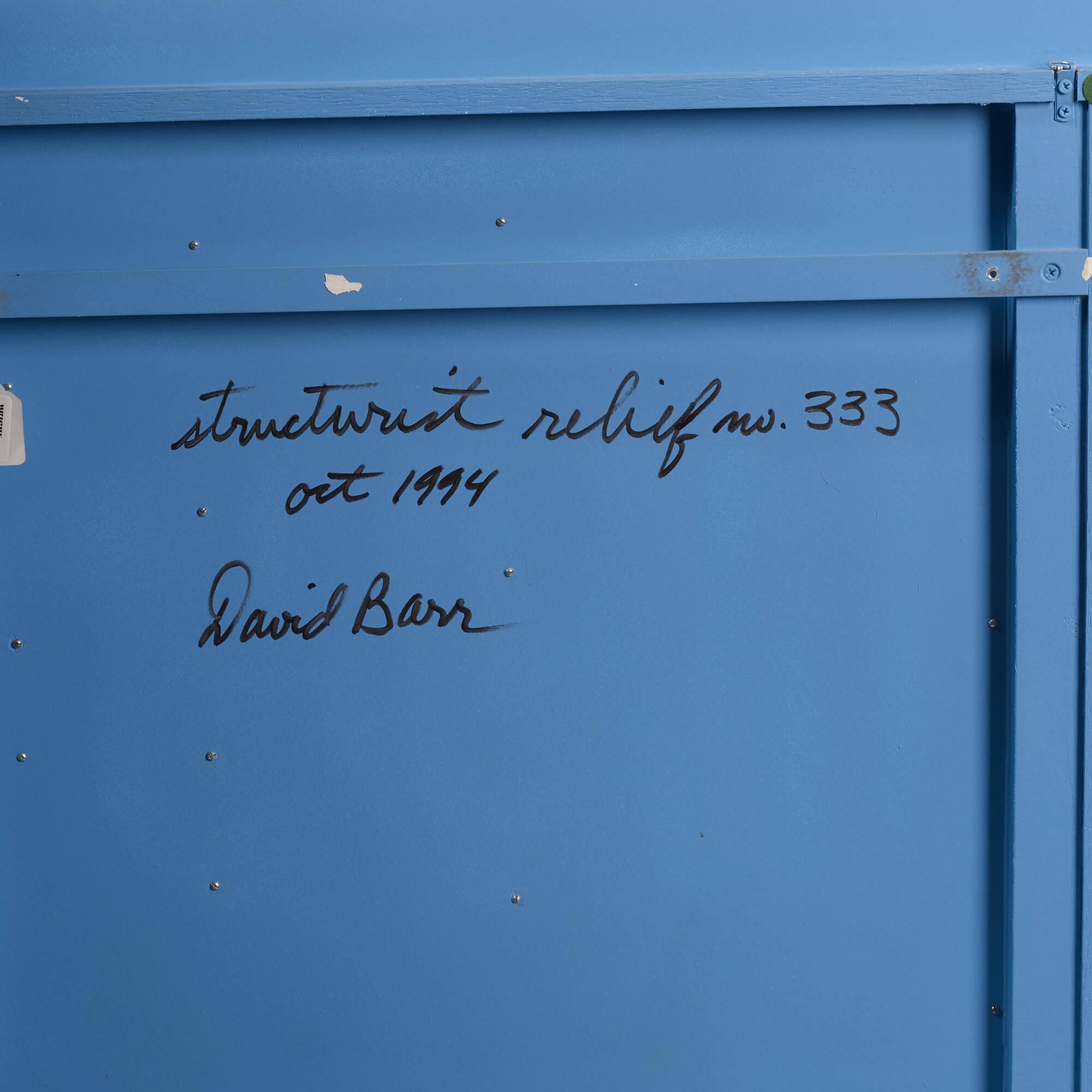 110: David Barr / Structurist Relief No. 333 (3 of 3)