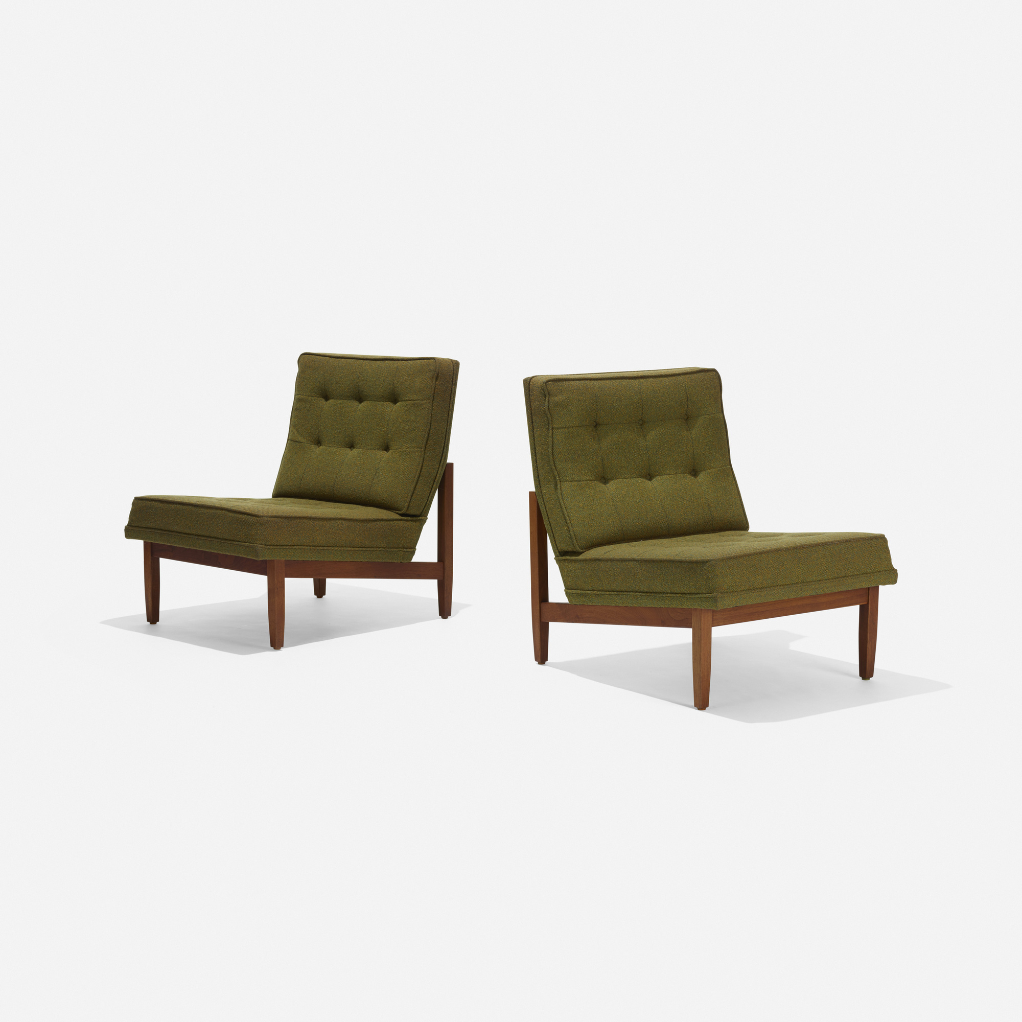111: Florence Knoll / lounge chairs, pair (1 of 3)