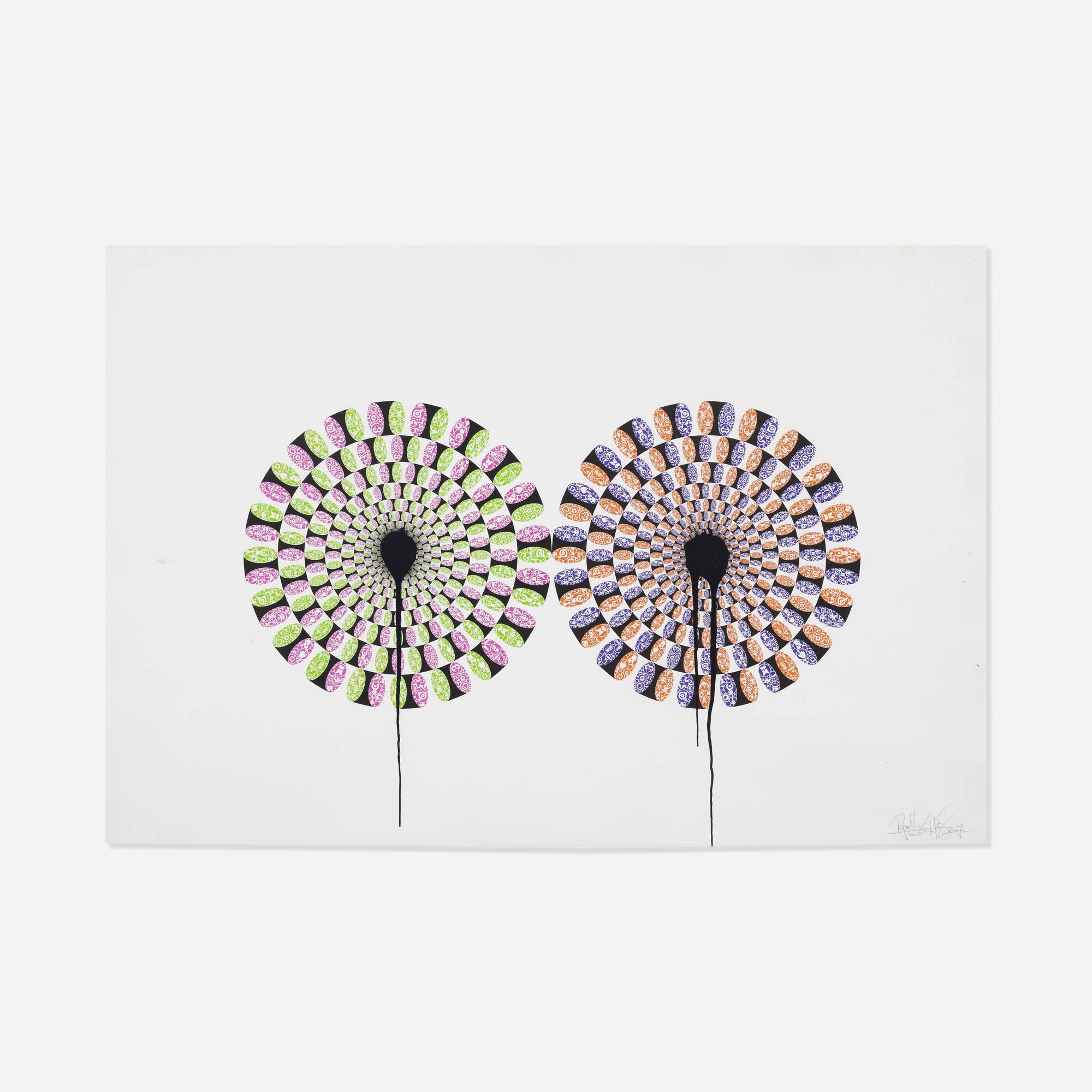 111: Ryan McGinness / Kaleiding Petals (Peripheral Drift Illusion) (1 of 1)